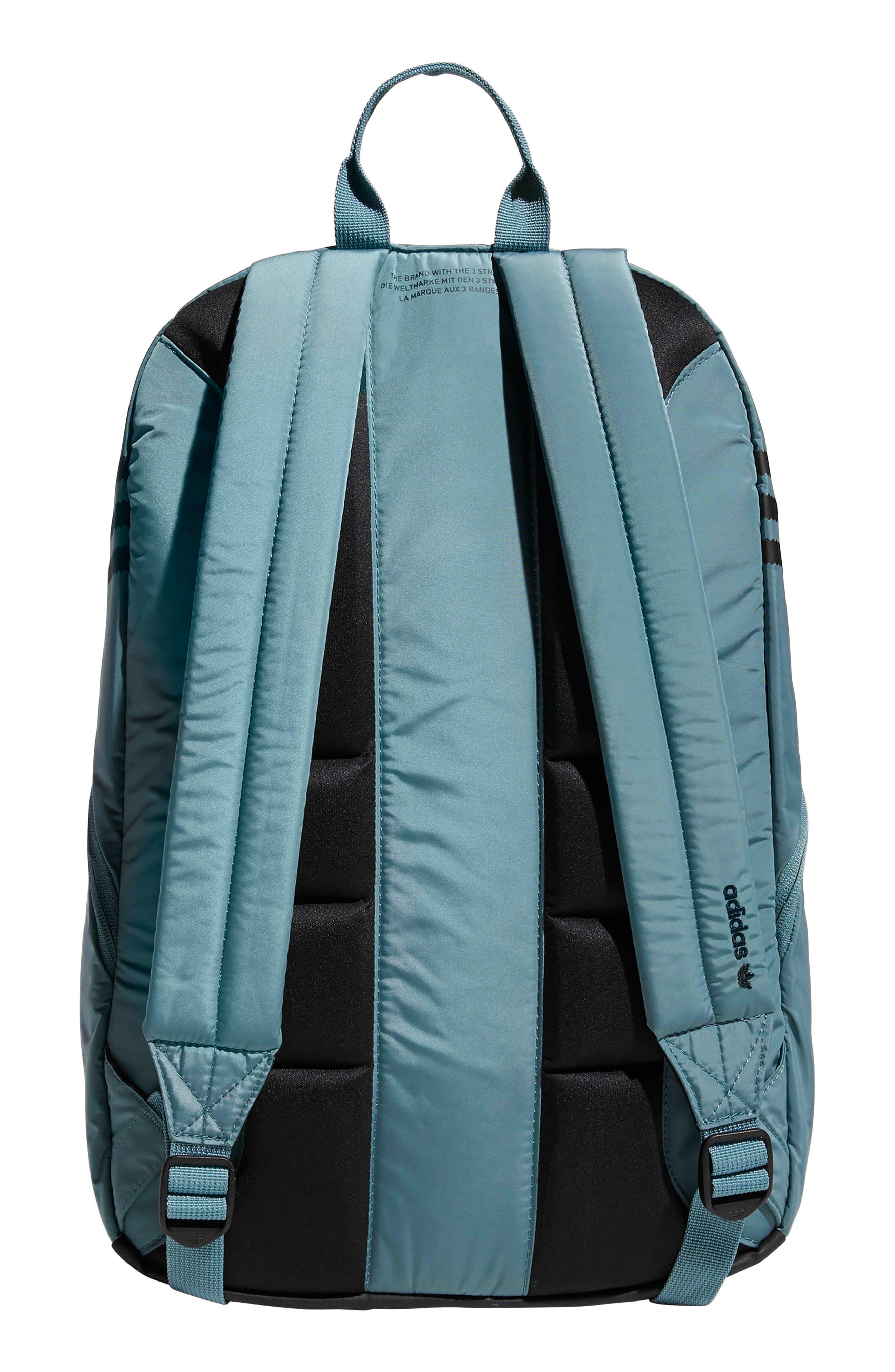 ADIDAS ORIGINALS, National Plus Backpack, Alternate thumbnail 2, color, RAW GREEN