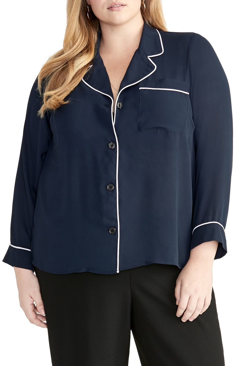 Rachel Rachel Roy T-shirts NOVA PIPED SHIRT