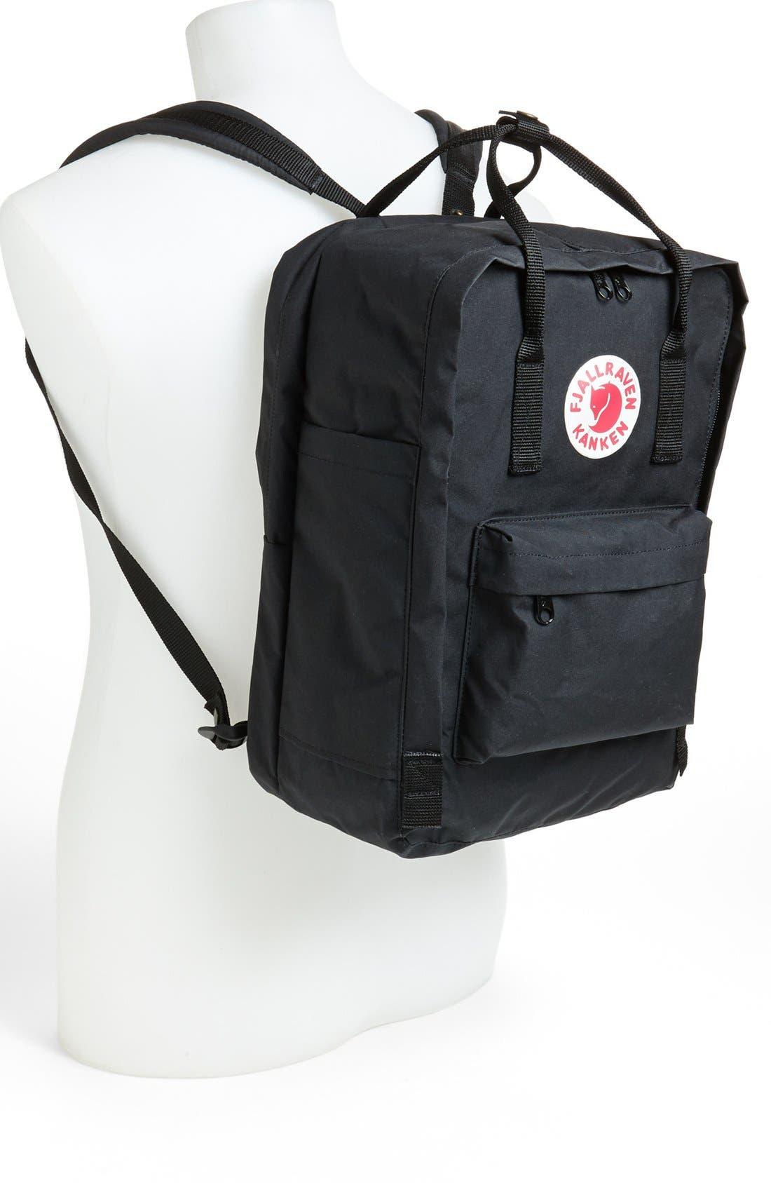 FJÄLLRÄVEN, 'Kånken' Laptop Backpack, Alternate thumbnail 9, color, BLACK