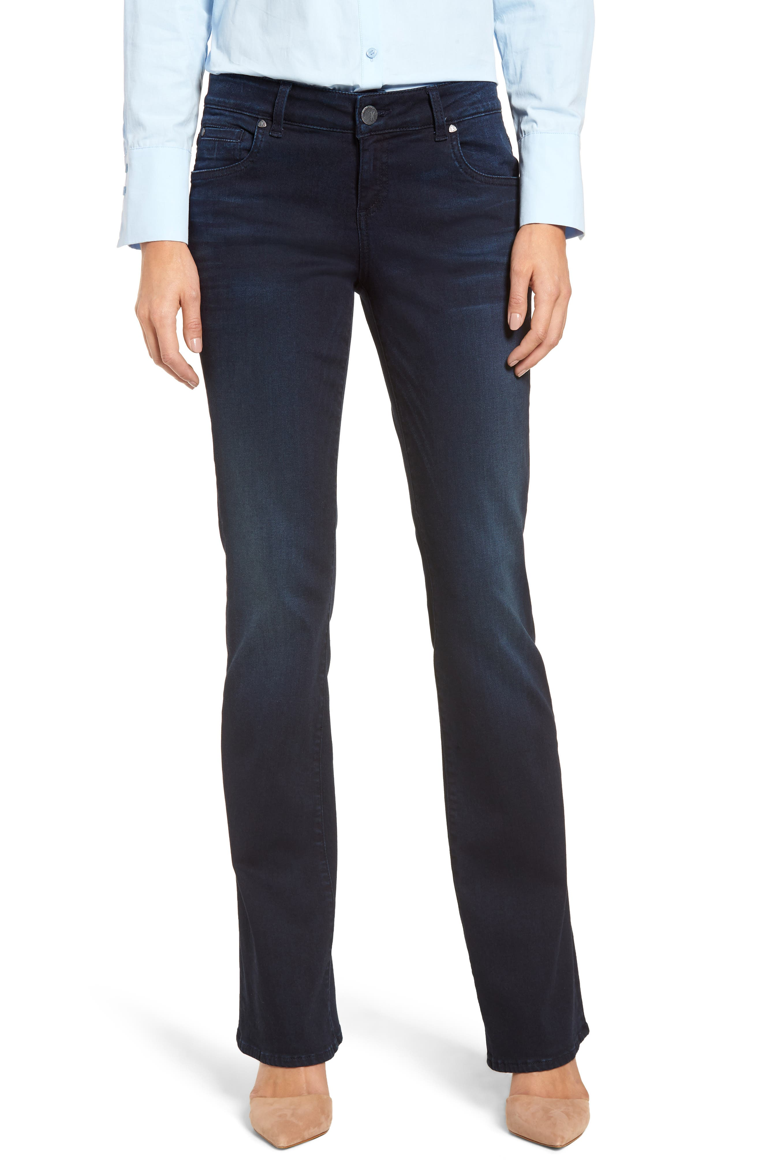 KUT FROM THE KLOTH, Natalie Stretch Bootleg Jeans, Main thumbnail 1, color, LIBERATING