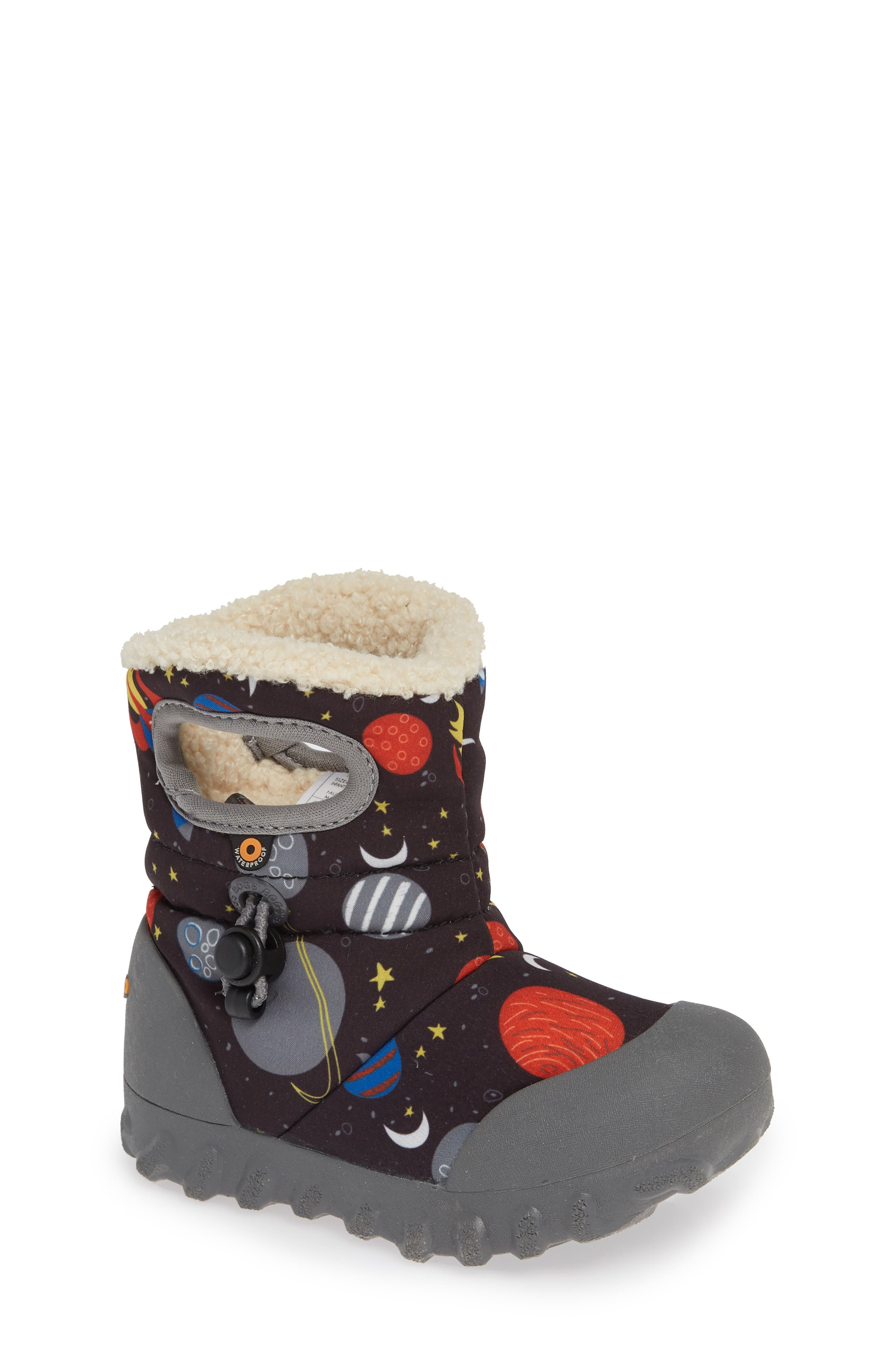 BOGS B-MOC Space Waterproof Insulated Faux Fur Boot, Main, color, BLACK MULTI