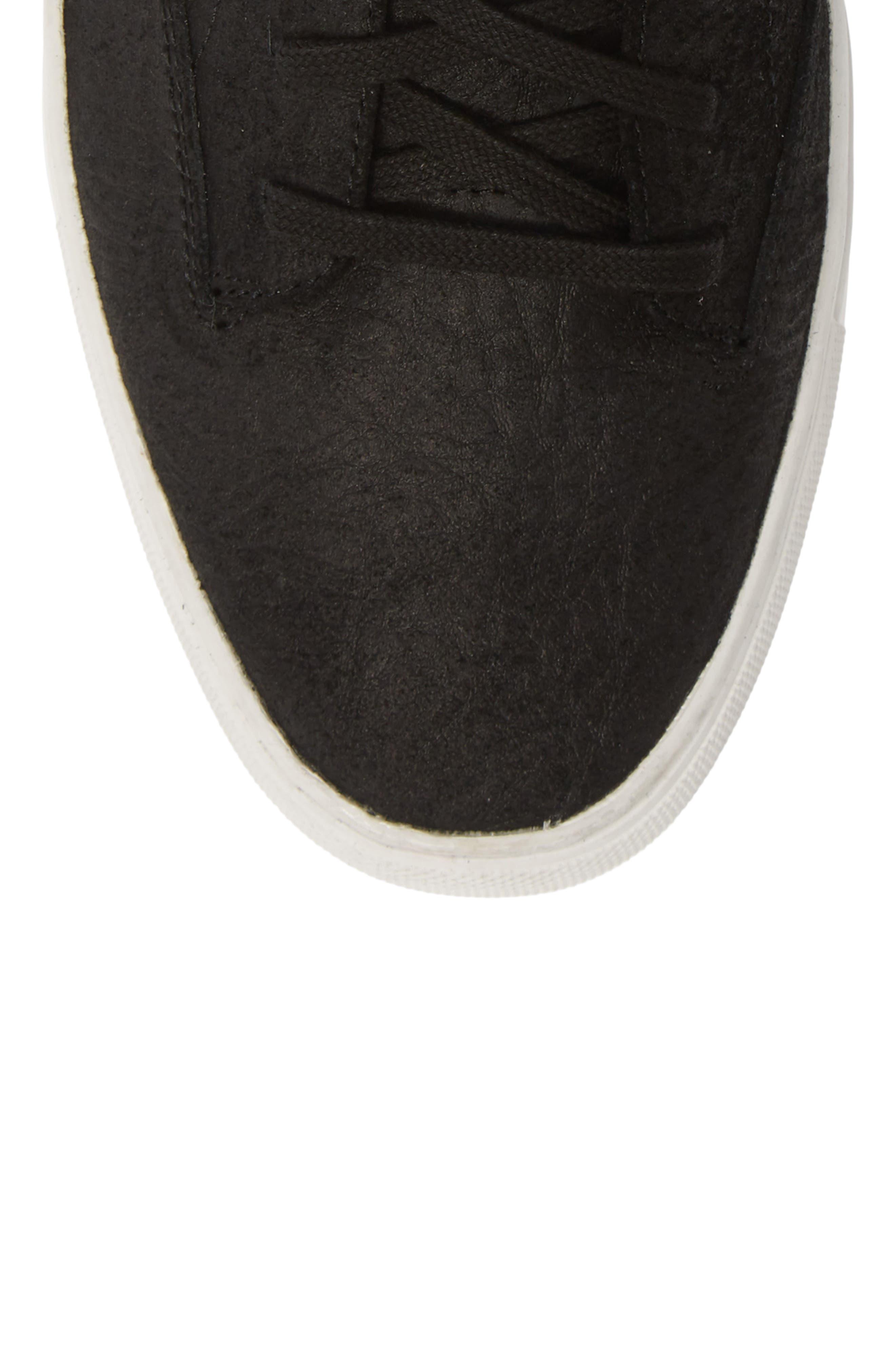 TCG, 'Porter' High Top Sneaker, Alternate thumbnail 5, color, BLACK LEATHER