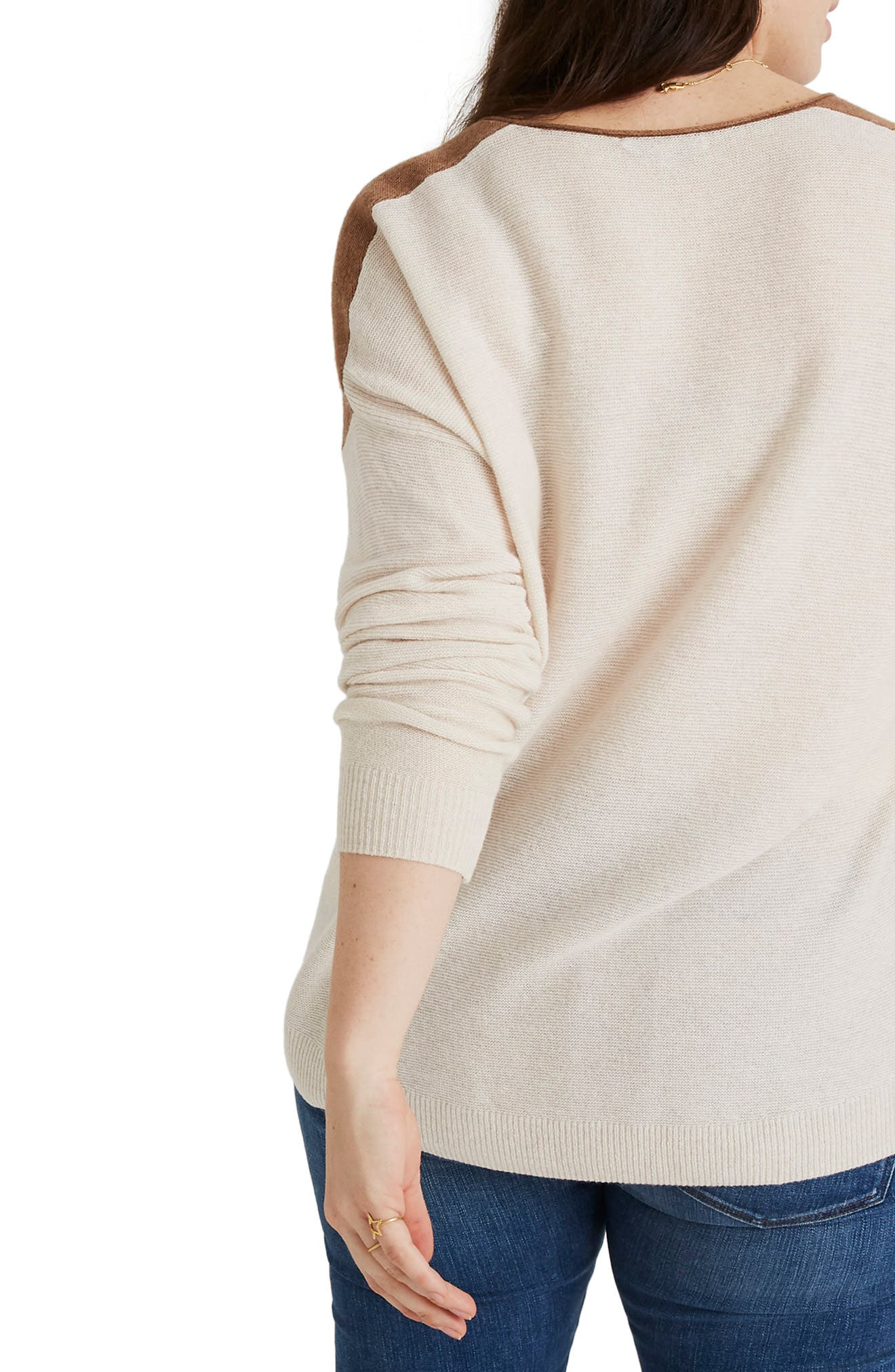 MADEWELL, Kimball Colorblock Sweater, Alternate thumbnail 7, color, 021