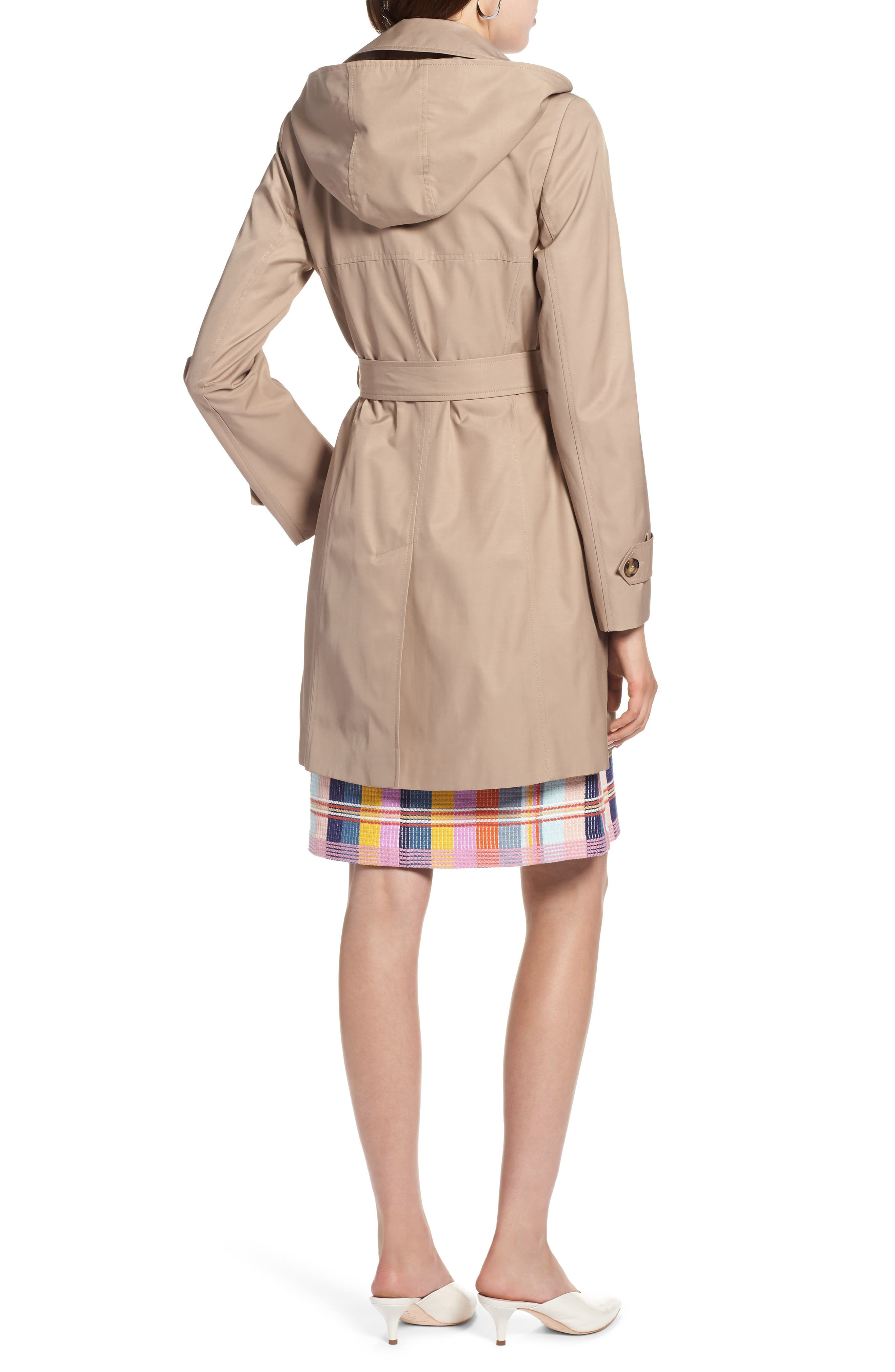 HALOGEN<SUP>®</SUP>, Hooded Trench Coat, Alternate thumbnail 2, color, 299