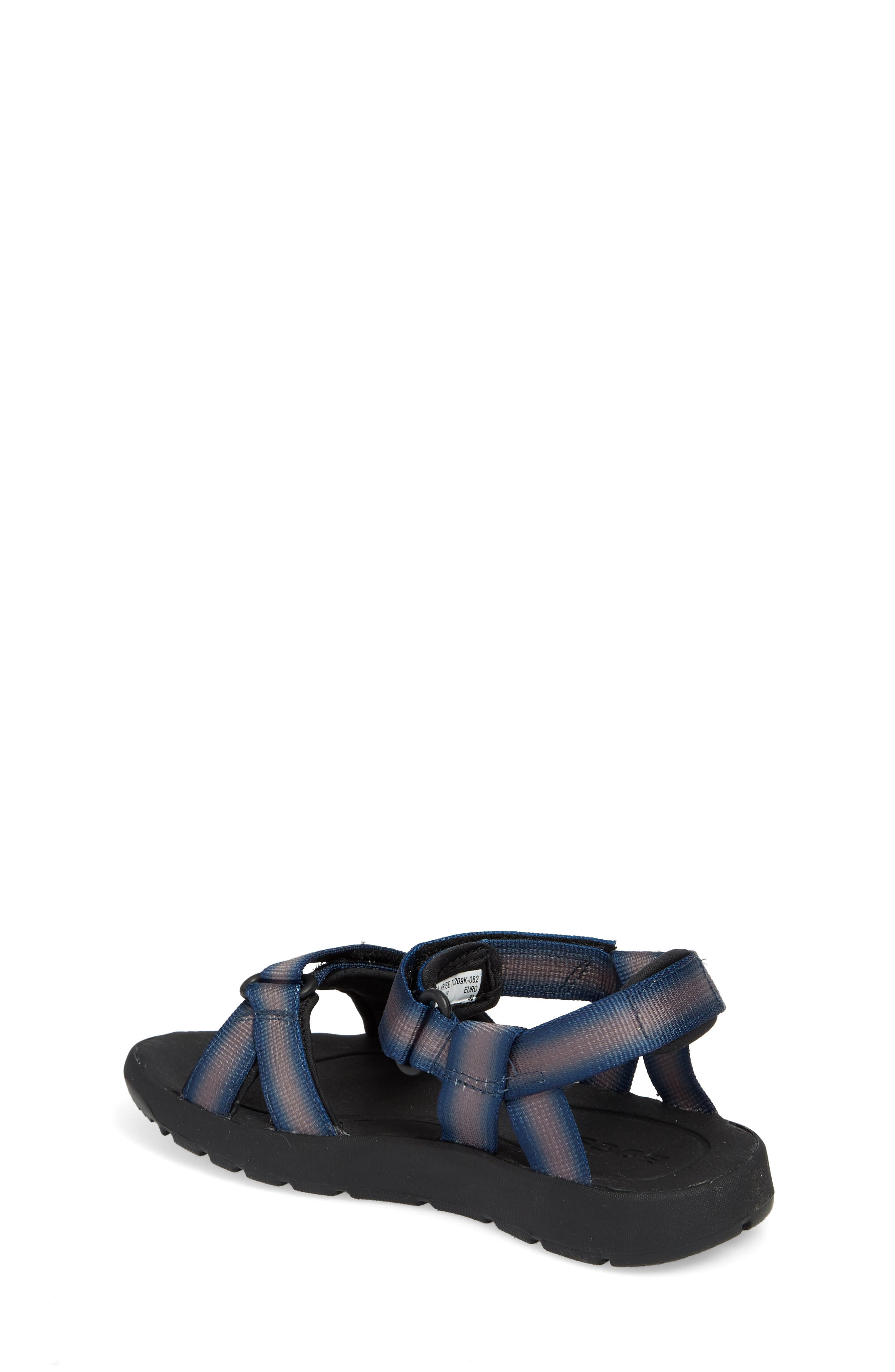BOGS, Rio Sunrise Stripe Sandal, Alternate thumbnail 2, color, 062