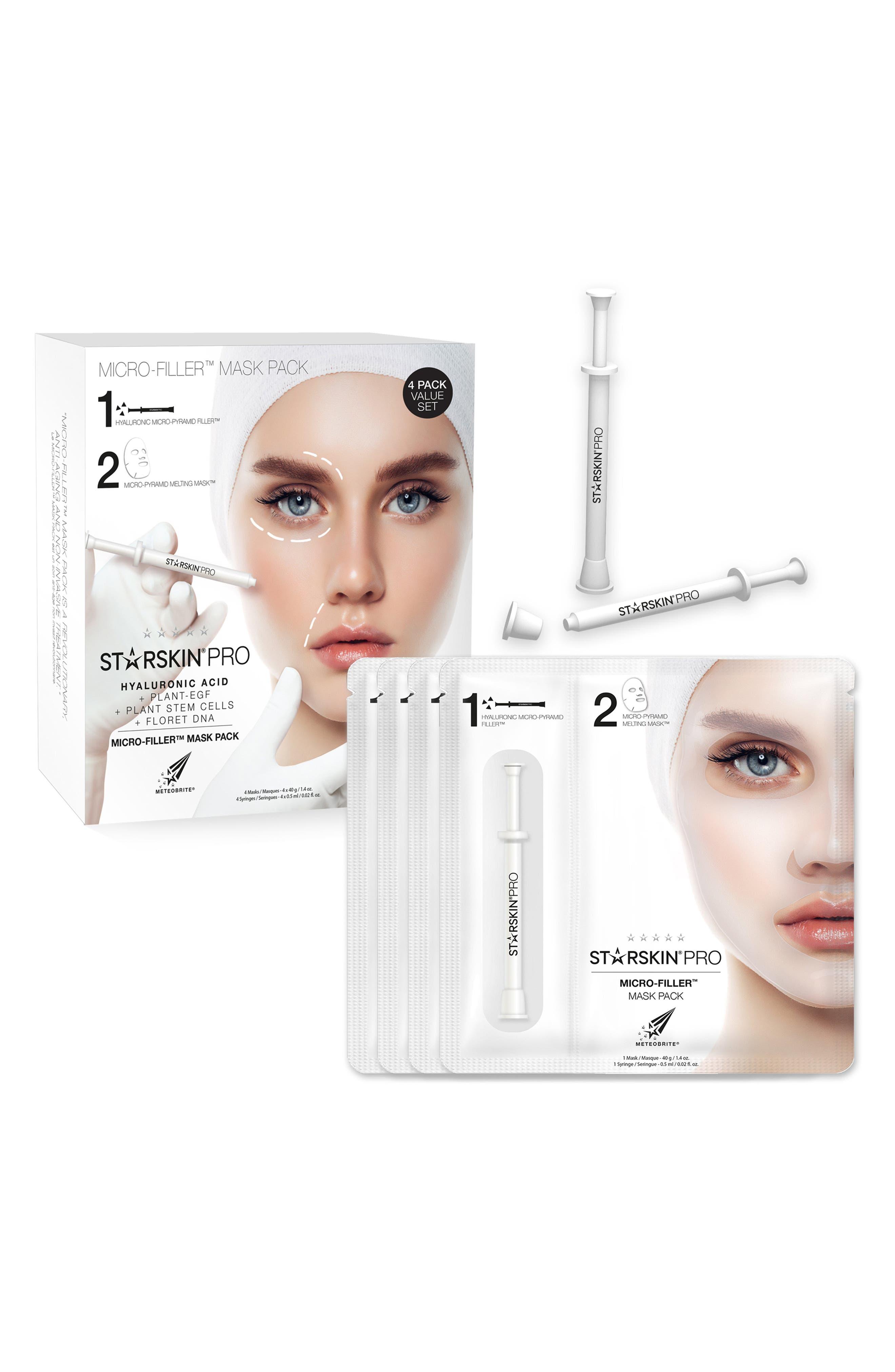 STARSKIN,  PRO Micro-Filler Mask Pack, Main thumbnail 1, color, NO COLOR
