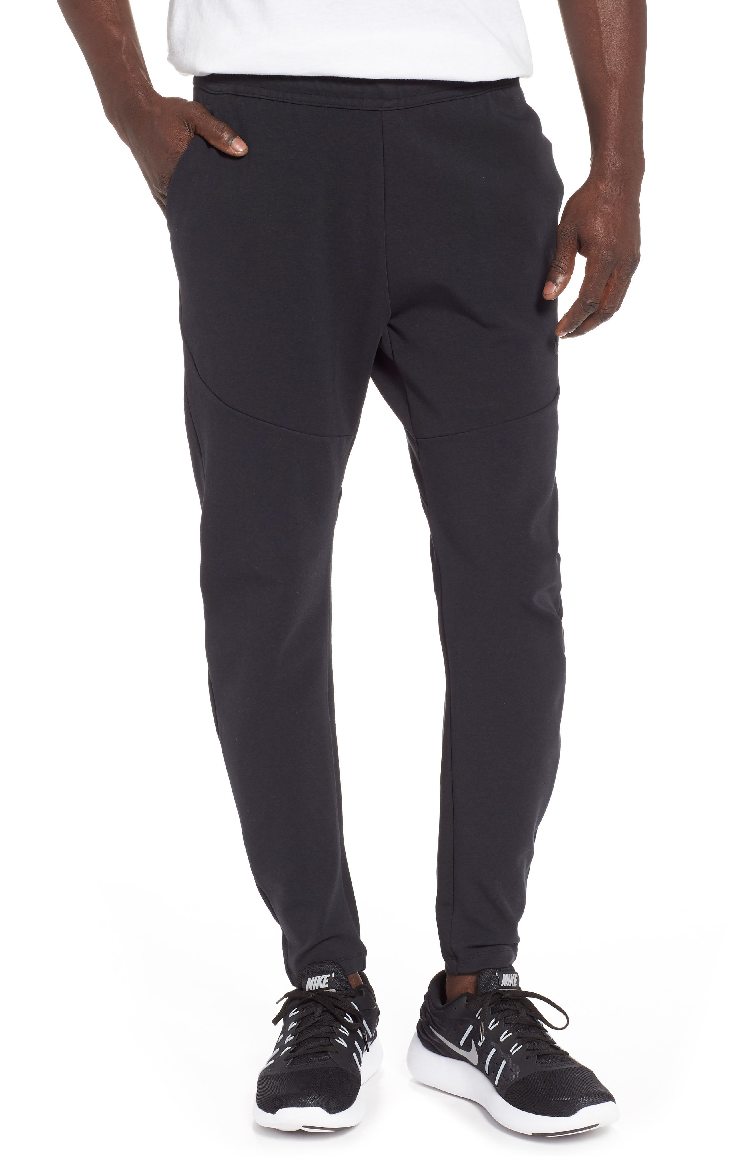 NIKE, Tech Knit Jogger Pants, Main thumbnail 1, color, BLACK/ BLACK