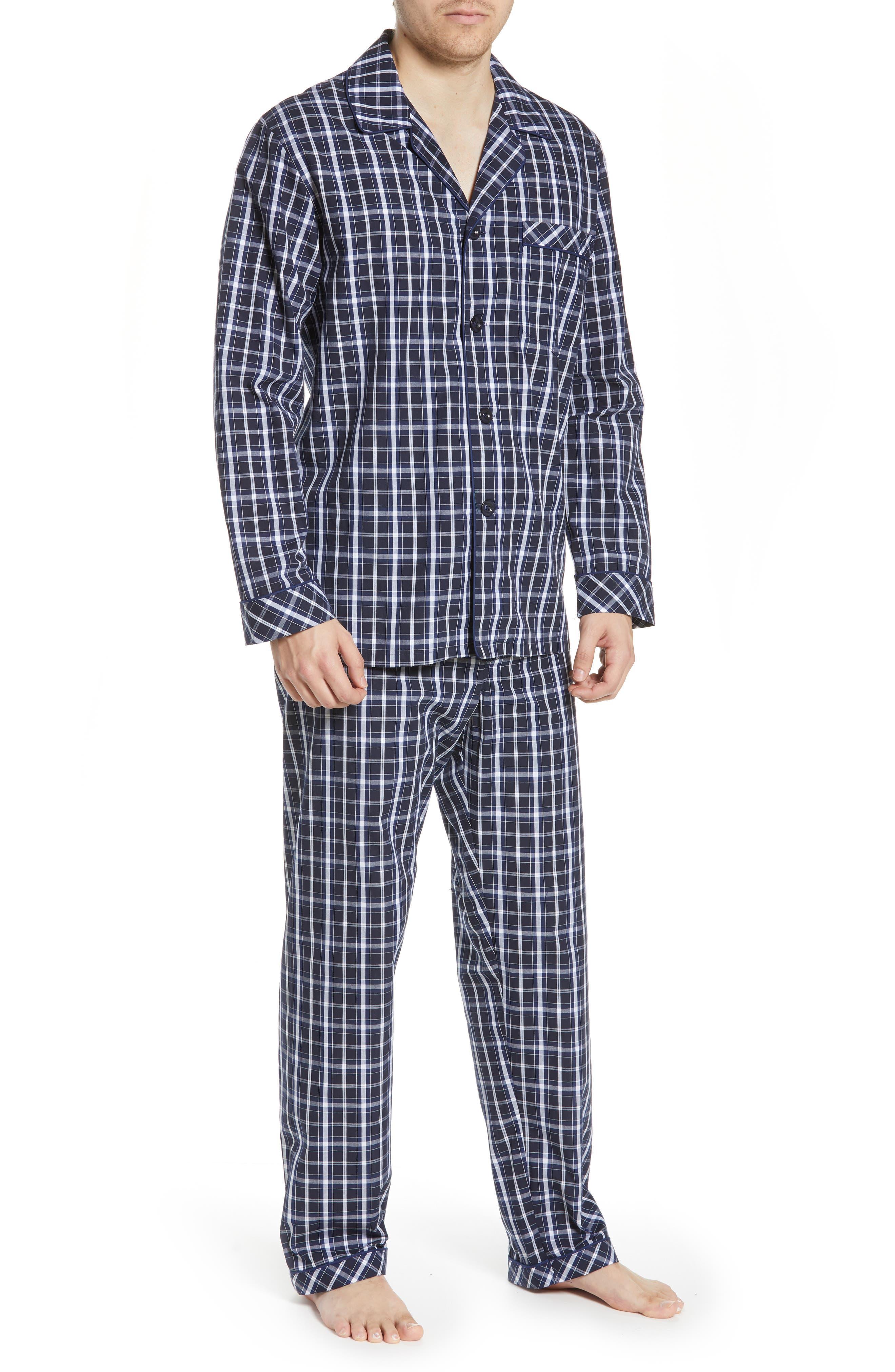MAJESTIC INTERNATIONAL, Marcus Cotton Pajamas, Main thumbnail 1, color, 402