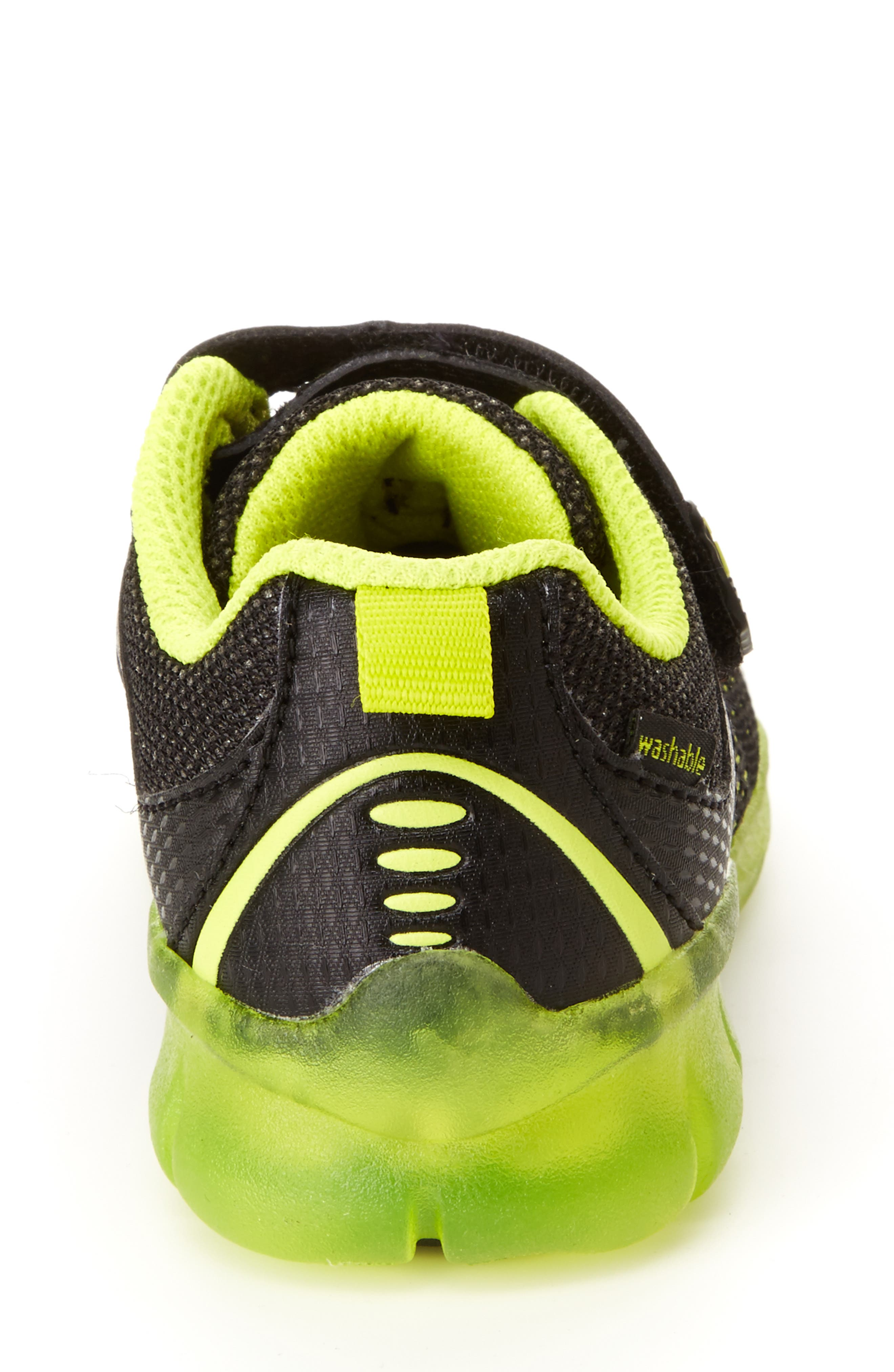 STRIDE RITE, Made2Play<sup>®</sup> Neo Light-Up Sneaker, Alternate thumbnail 6, color, 002