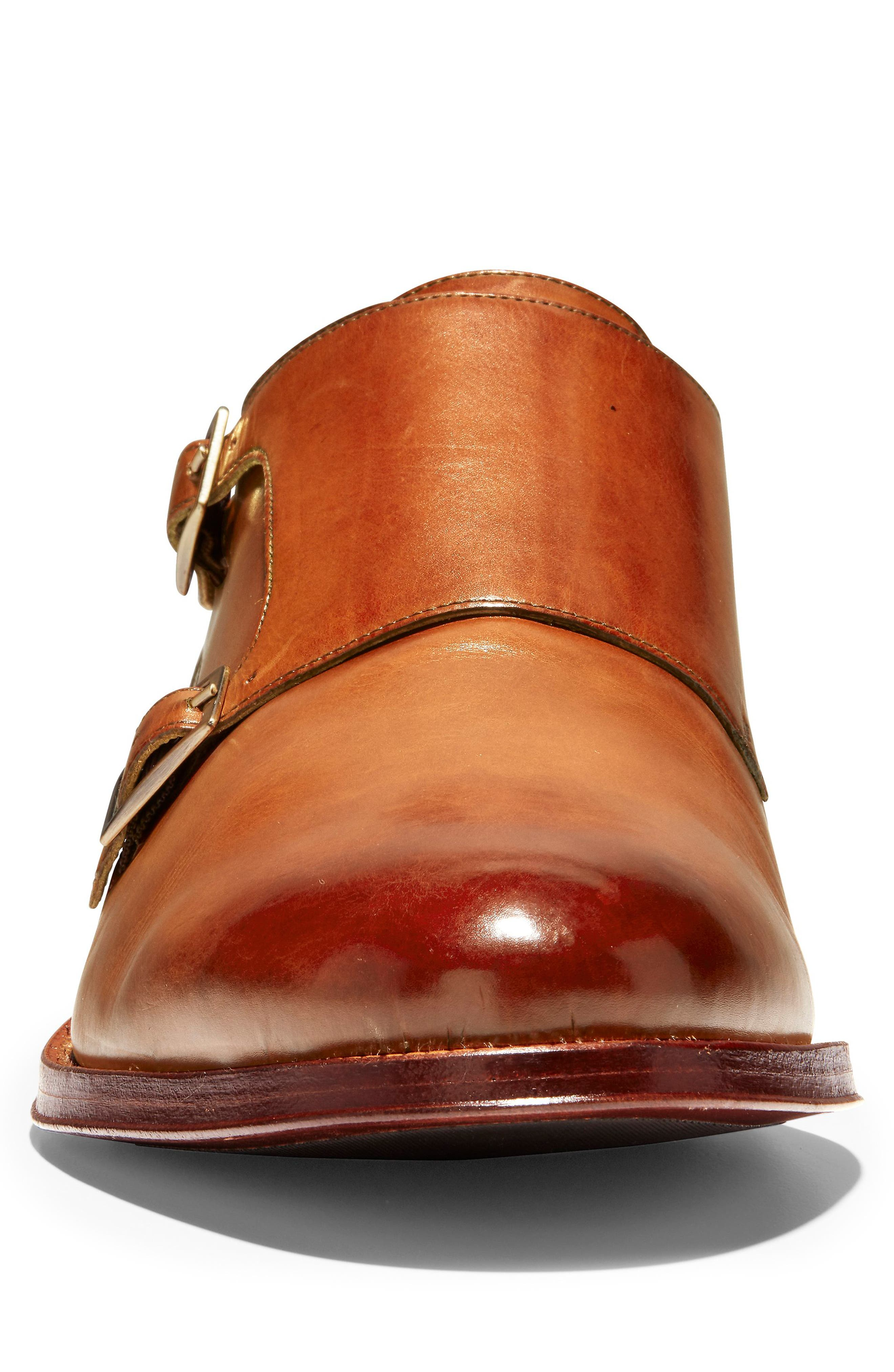 COLE HAAN, American Classics Gramercy Double Strap Monk Shoe, Alternate thumbnail 4, color, BRITISH TAN LEATHER