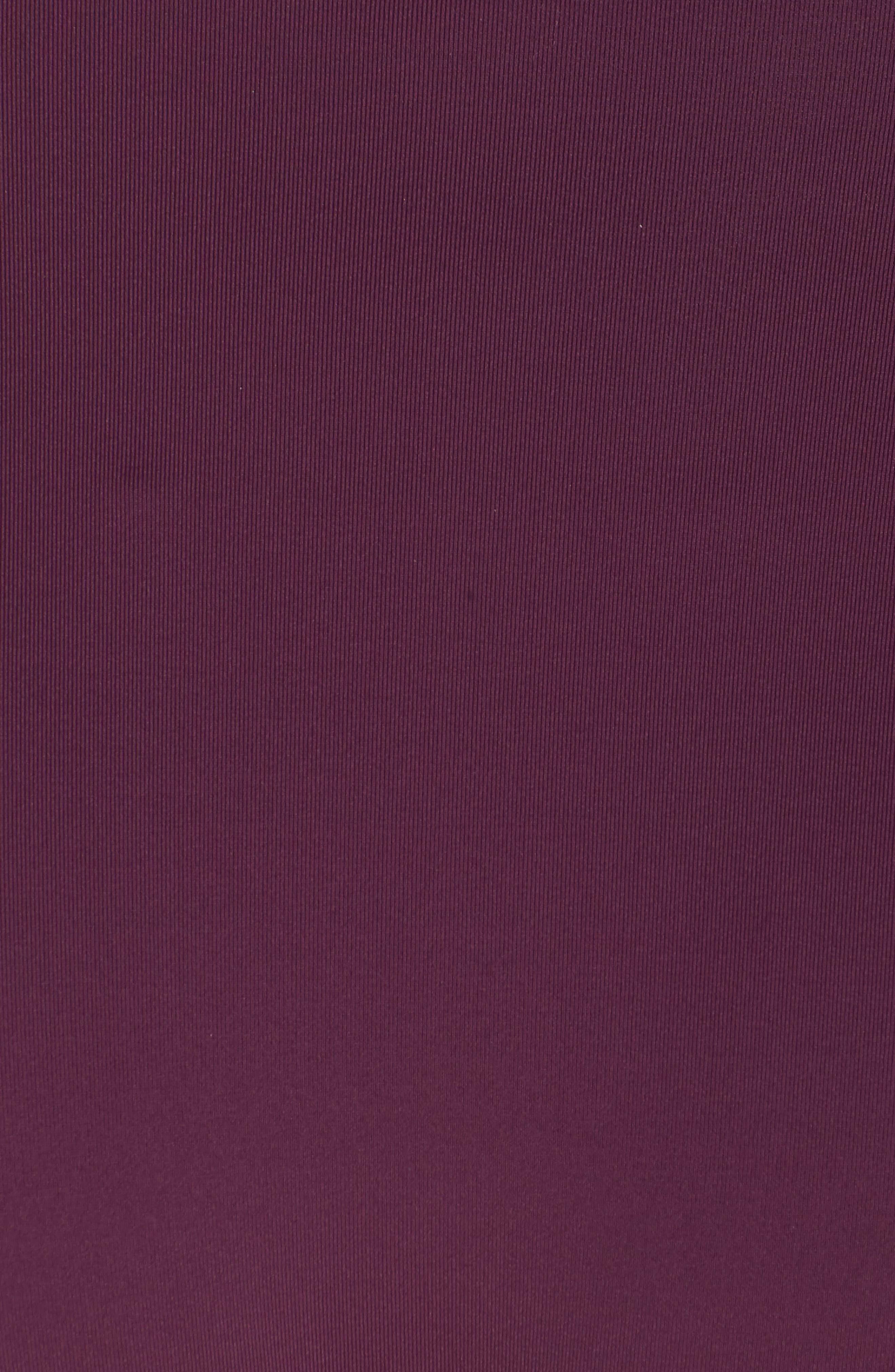 BECCA, Color Code Crossover High Waist Bikini Bottoms, Alternate thumbnail 6, color, MERLOT