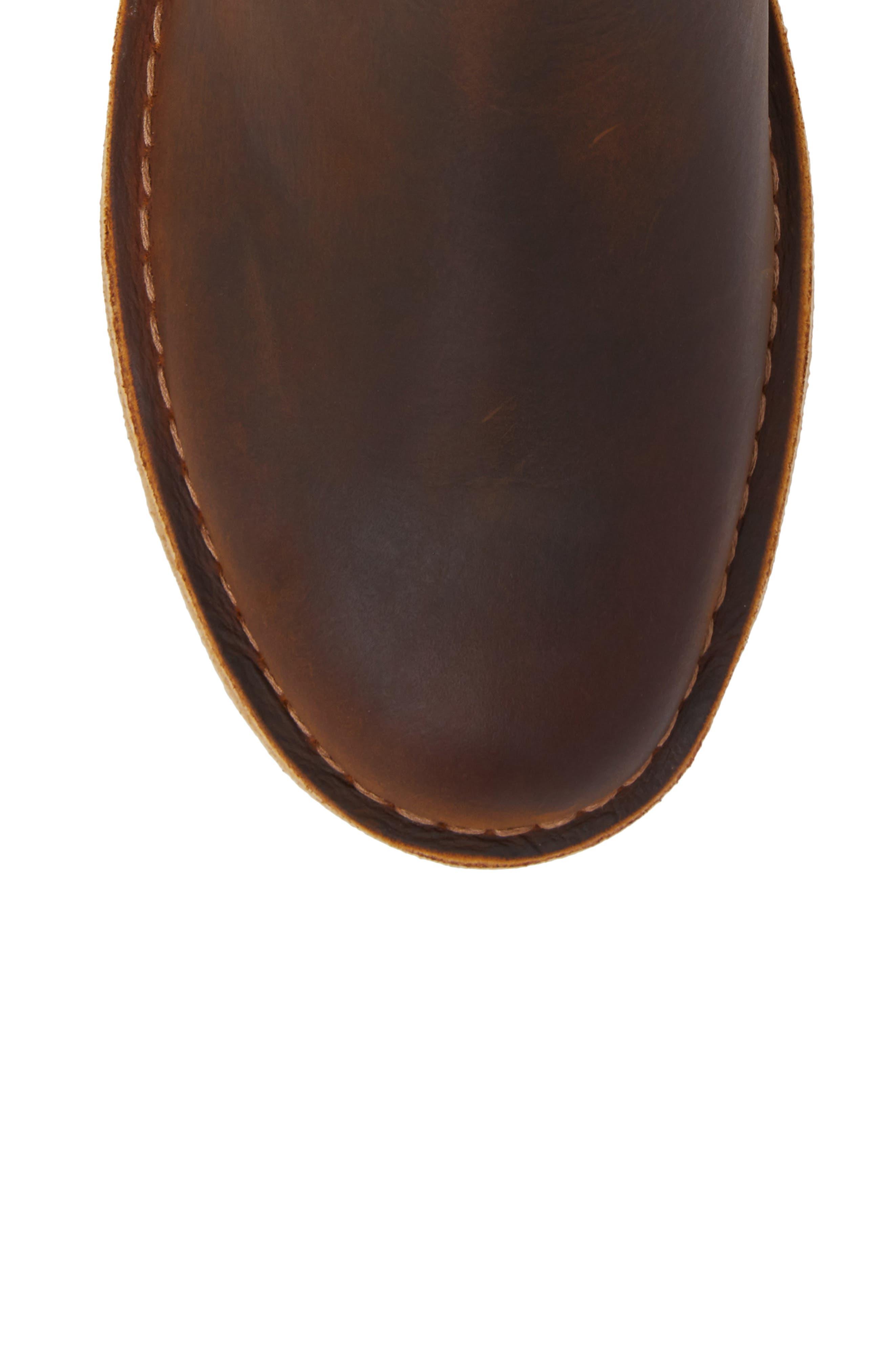 CLARKS<SUP>®</SUP>, Desert Peak Chelsea Boot, Alternate thumbnail 5, color, MEDIUM BROWN BEESWAX LEATHER