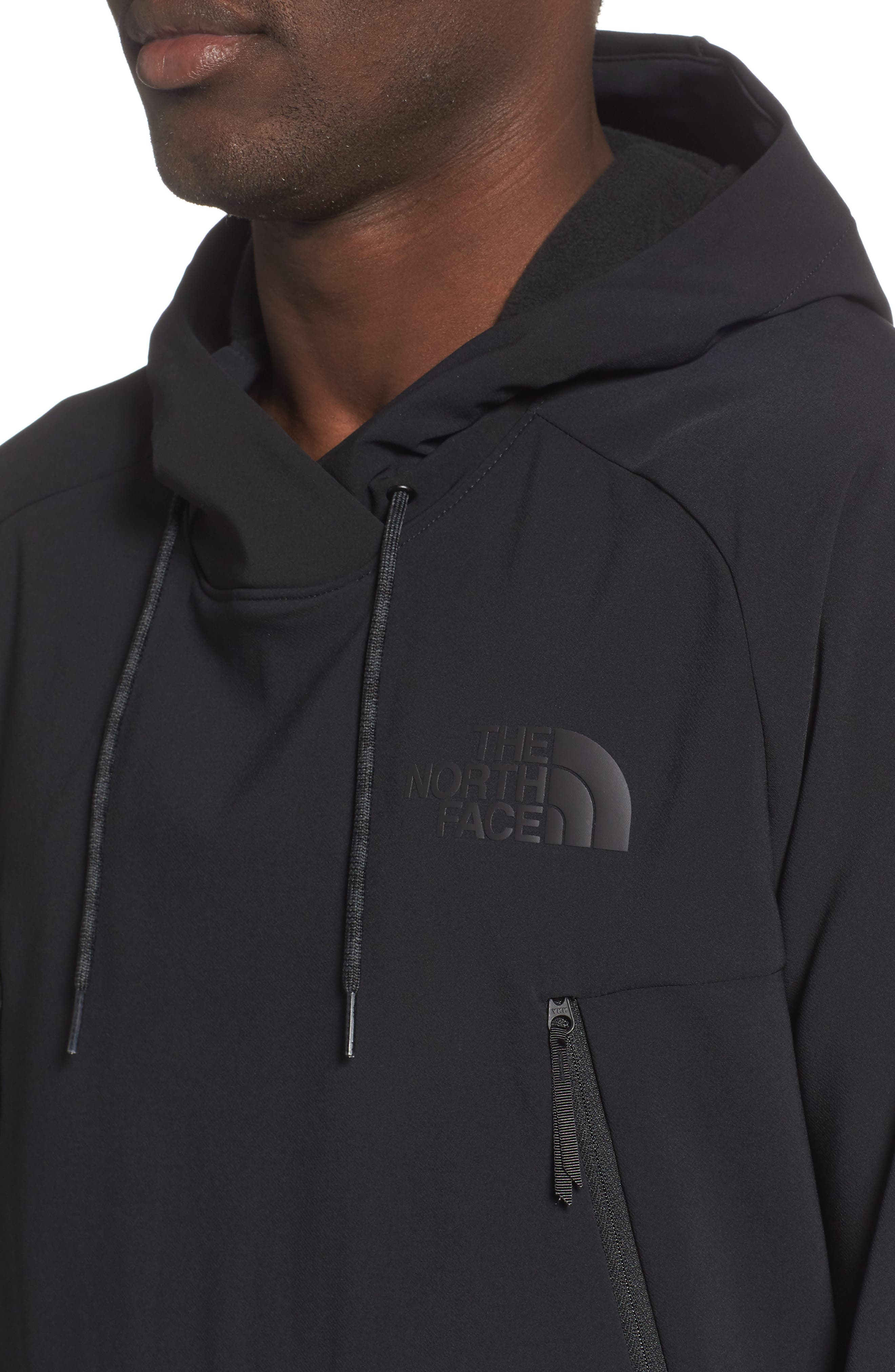 THE NORTH FACE, Tekno Pullover Hoodie, Alternate thumbnail 5, color, 001