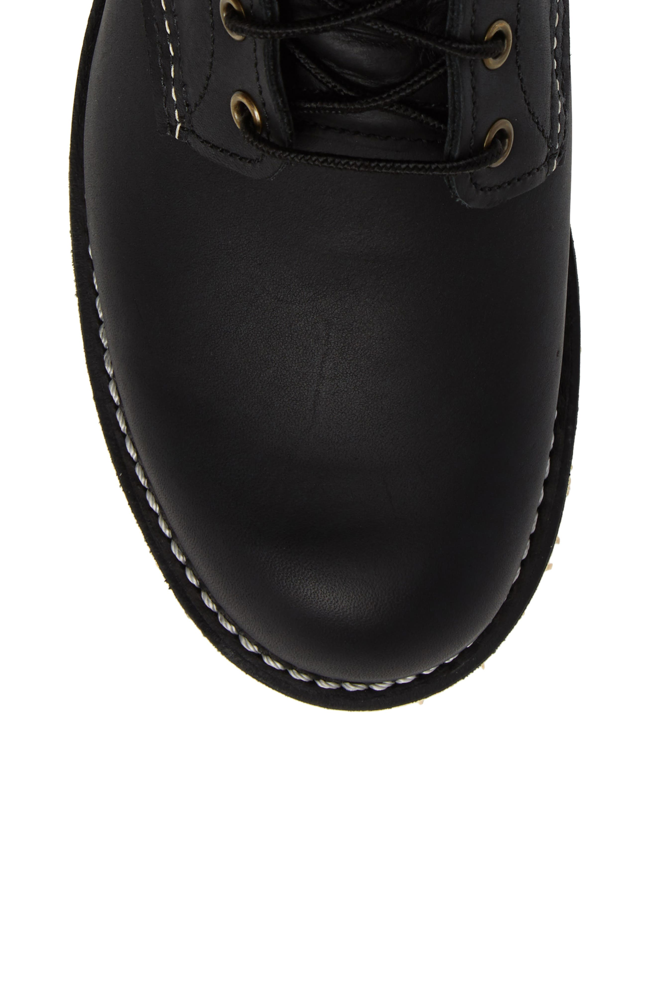 RED WING, Rover Plain Toe Boot, Alternate thumbnail 5, color, BLACK HARNESS LEATHER