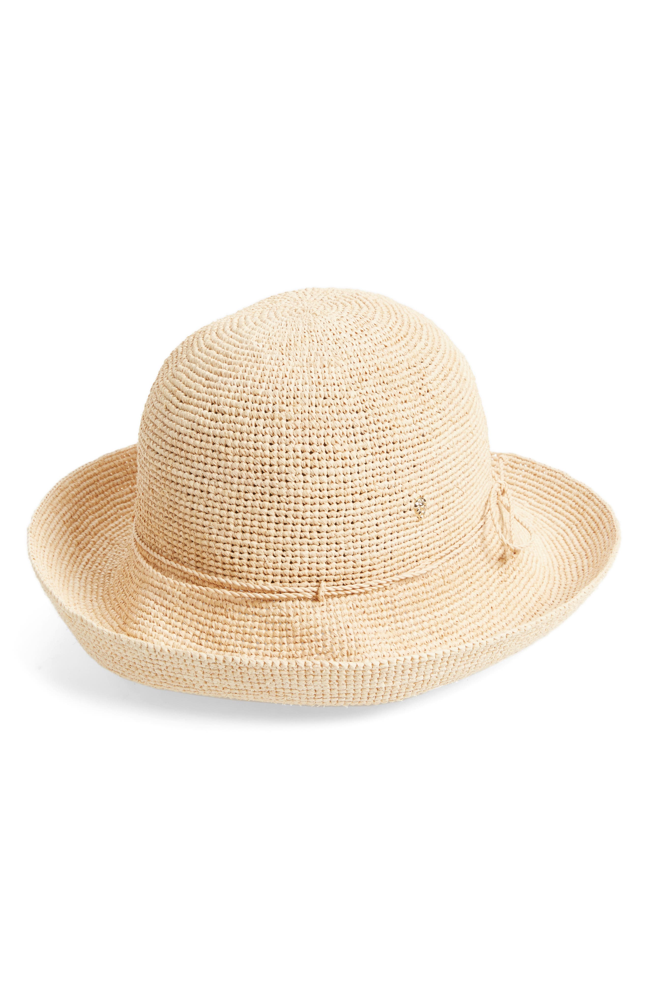 HELEN KAMINSKI 'Provence 10' Packable Raffia Hat, Main, color, NATURAL