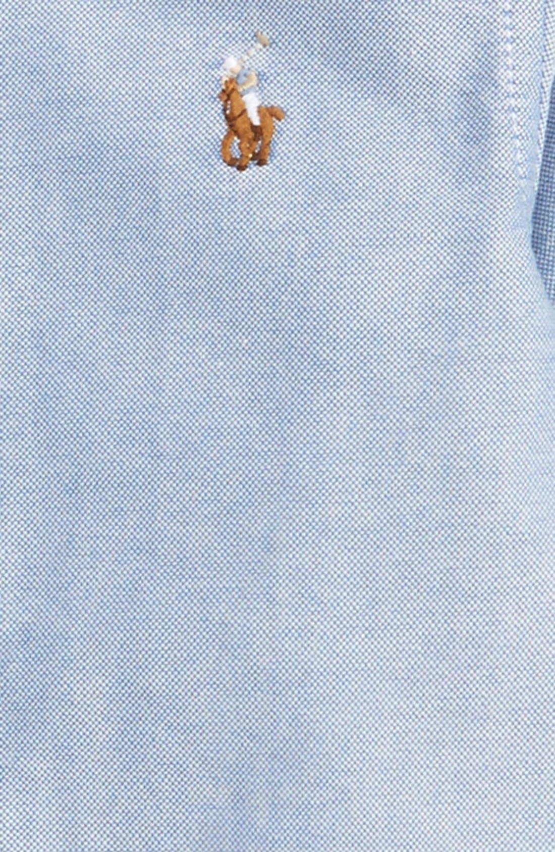 RALPH LAUREN, Oxford Shirt, Alternate thumbnail 2, color, 450