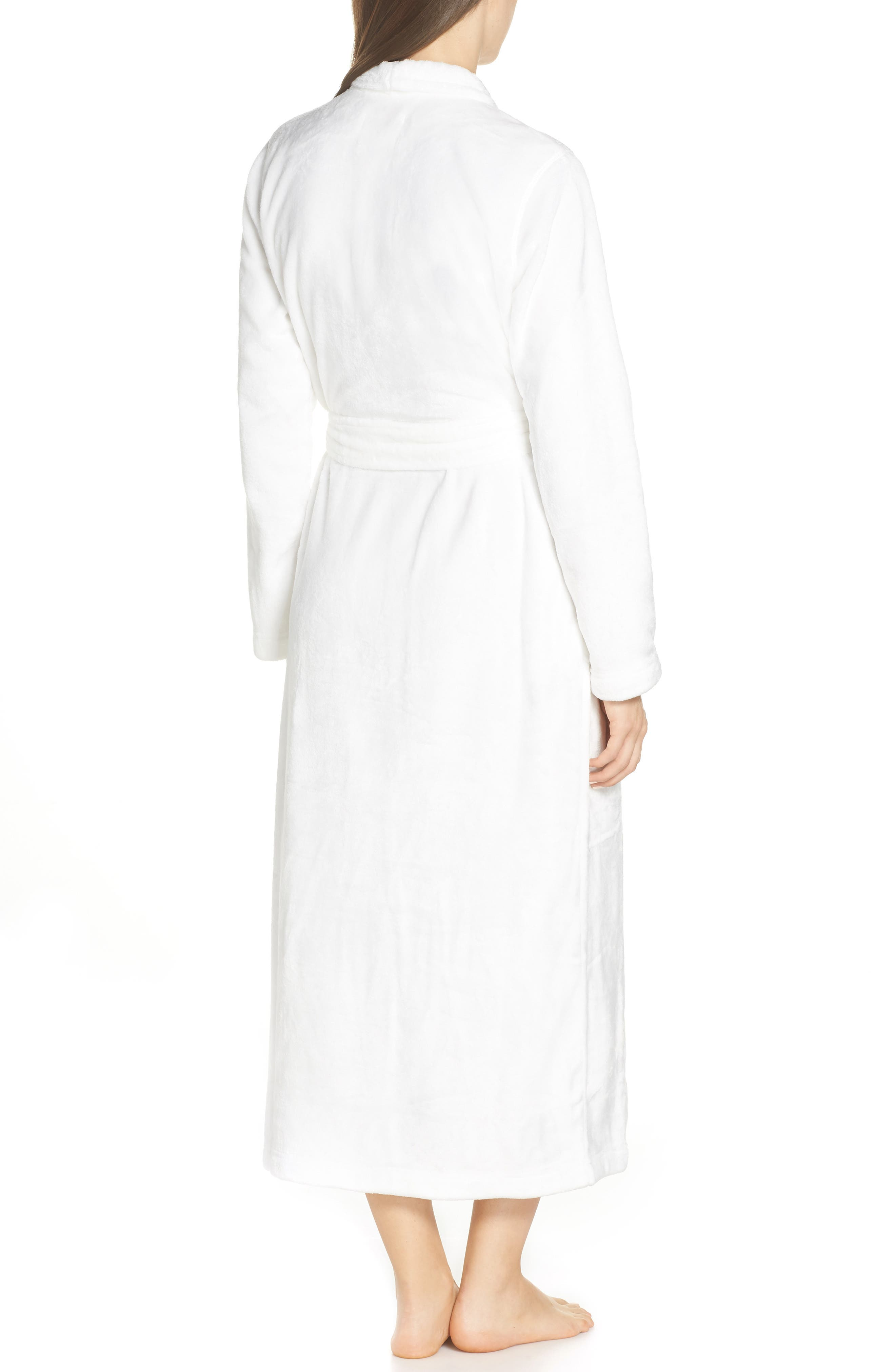 UGG<SUP>®</SUP>, Marlow Double-Face Fleece Robe, Alternate thumbnail 2, color, SEAGULL