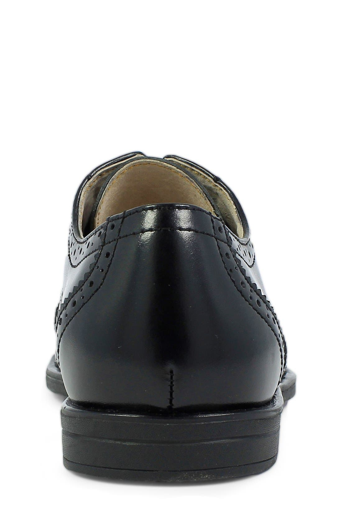 FLORSHEIM, 'Reveal' Wingtip Oxford, Alternate thumbnail 2, color, BLACK LEATHER