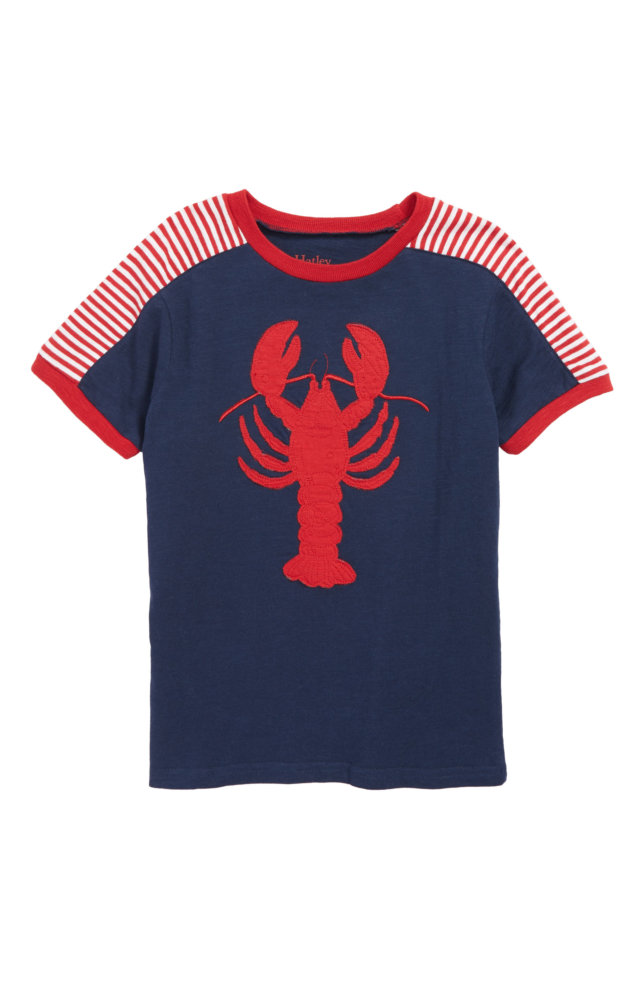 HATLEY Lobster Patch Shirt, Main, color, BLUE