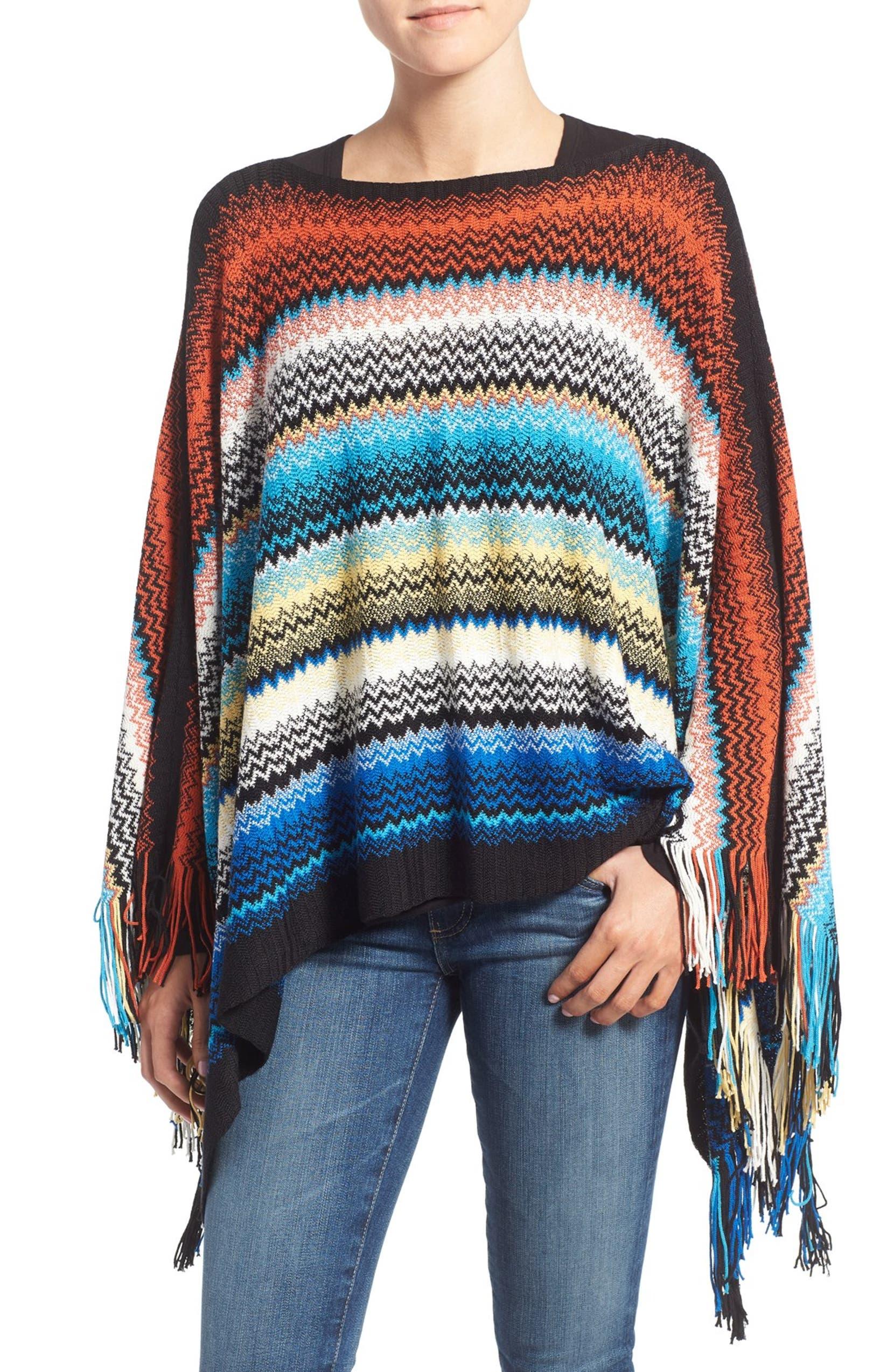 9a1d5188b4f5c Missoni Stripe Sweater Knit Poncho | Nordstrom