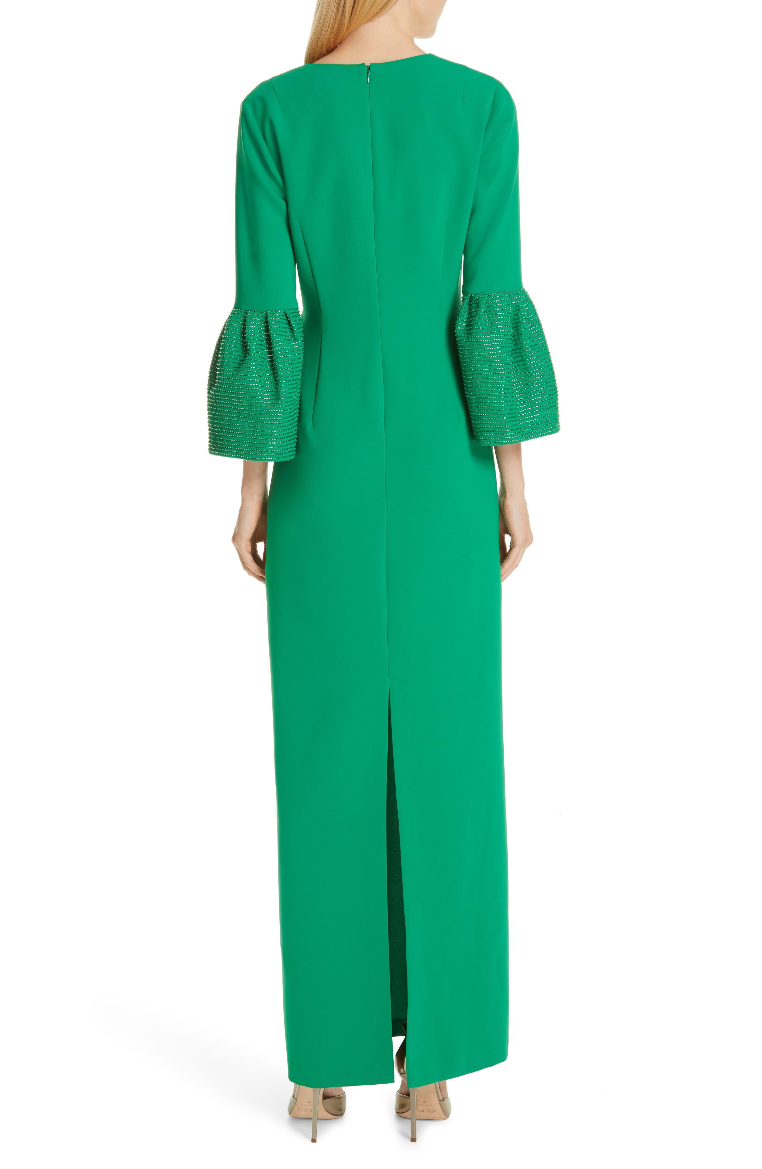 SACHIN & BABI, Tower Beaded Cuff Column Evening Dress, Alternate thumbnail 2, color, TOWER GREEN