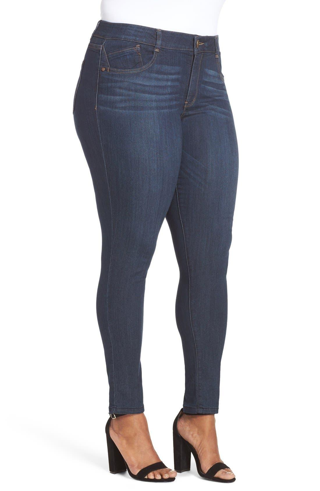 WIT & WISDOM, Ab-solution Stretch Skinny Jeans, Alternate thumbnail 7, color, INDIGO