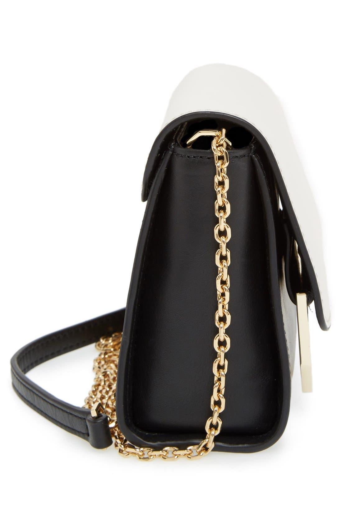 LOUISE ET CIE, 'Towa Micro' Colorblock Leather Bag, Alternate thumbnail 2, color, 100