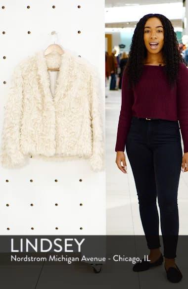 Plush Faux Fur Jacket, sales video thumbnail