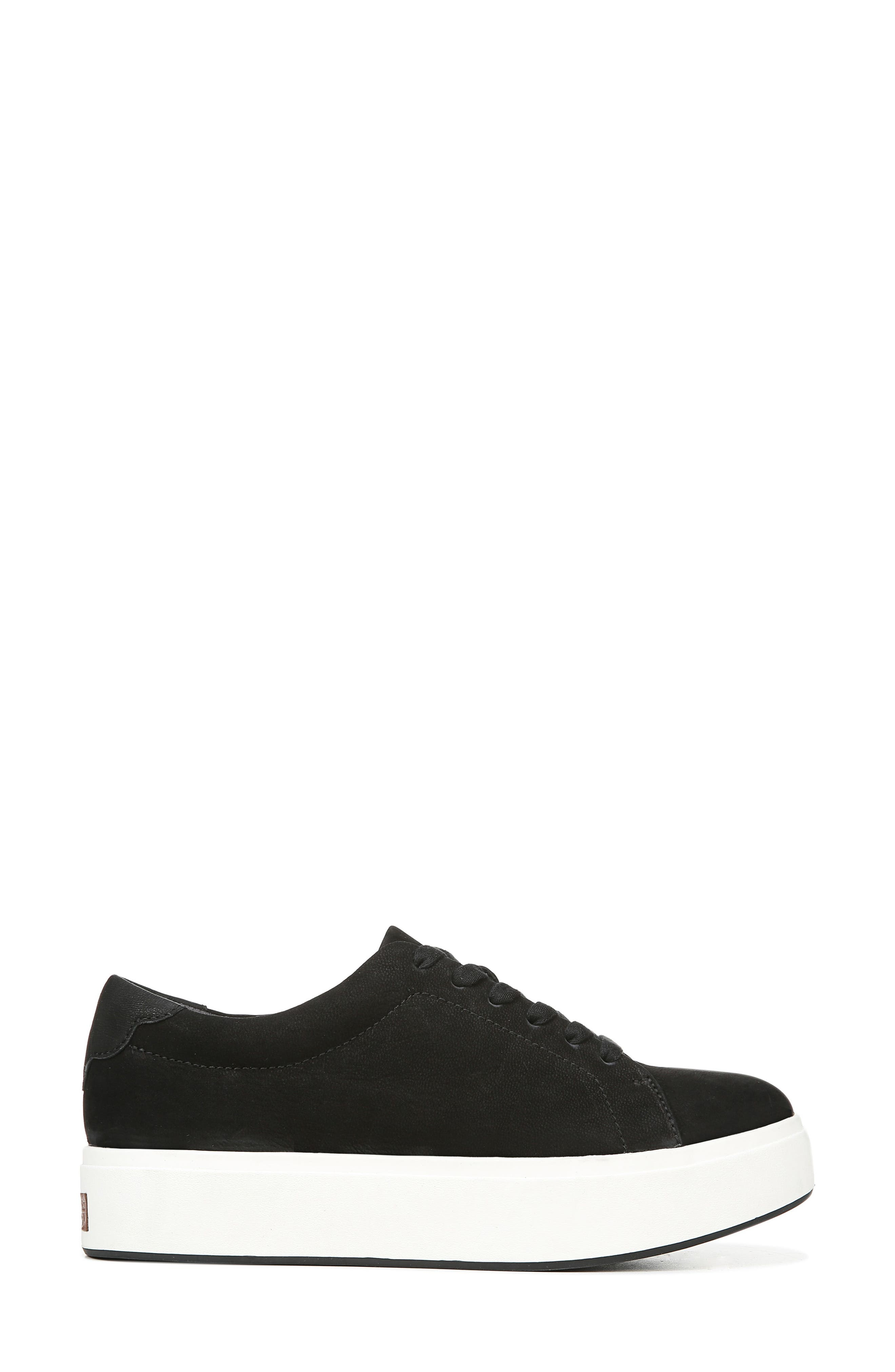 DR. SCHOLL'S, Abbot Luxe Platform Sneaker, Alternate thumbnail 3, color, BLACK SUEDE