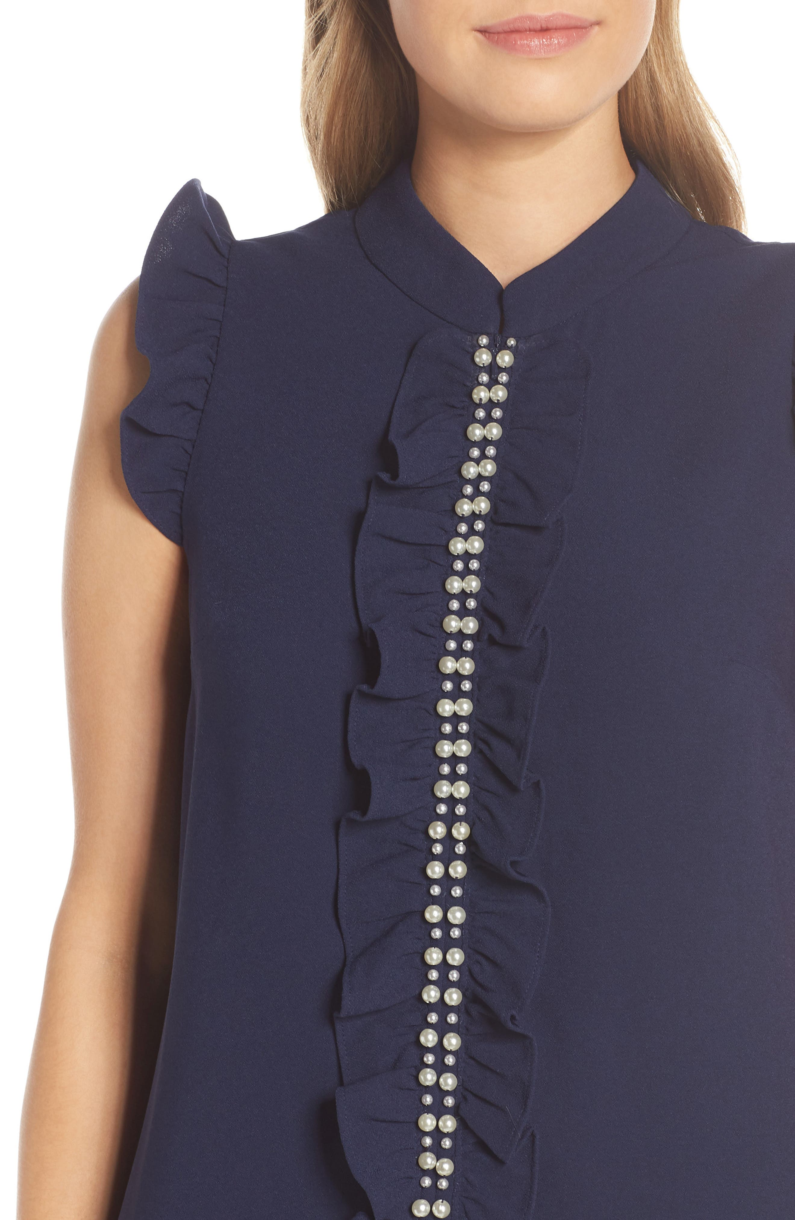 LILLY PULITZER<SUP>®</SUP>, Adalee Shift Dress, Alternate thumbnail 4, color, TRUE NAVY