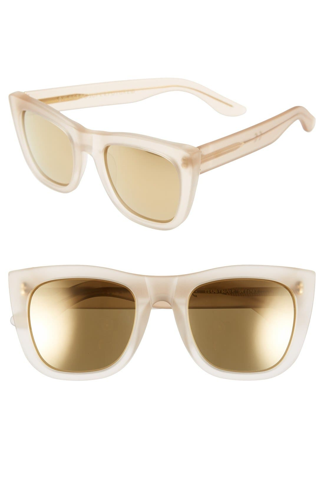 SUPER BY RETROSUPERFUTURE<SUP>®</SUP> 'Gals' 50mm Mirrored Sunglasses, Main, color, 250