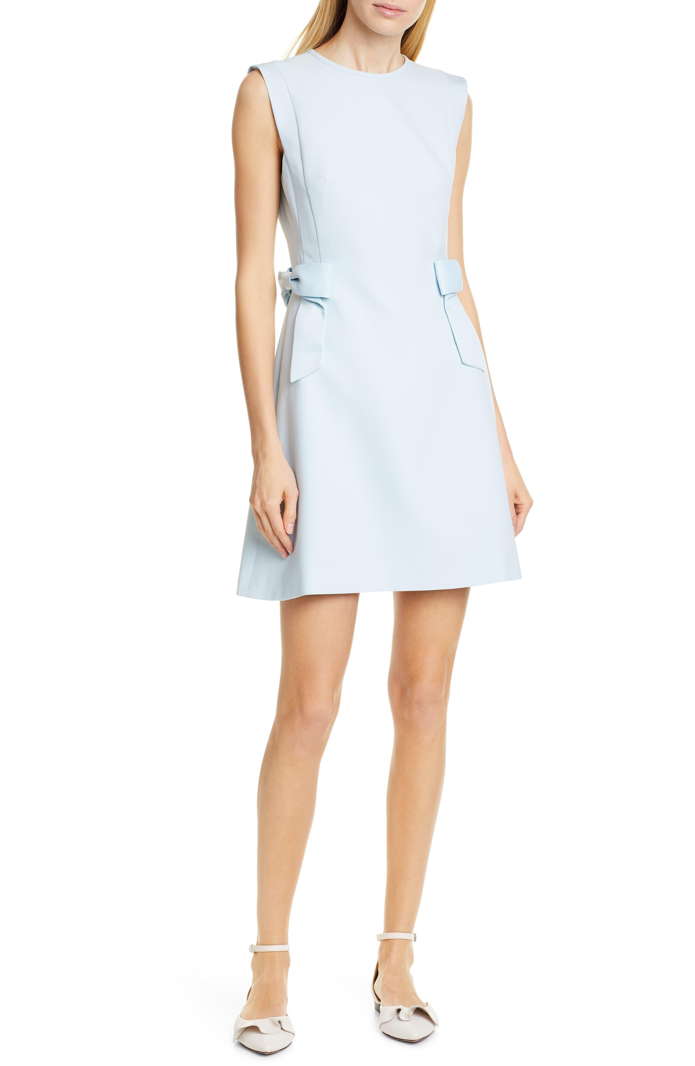 TED BAKER LONDON, Meline Side Bow Detail Dress, Main thumbnail 1, color, MINT