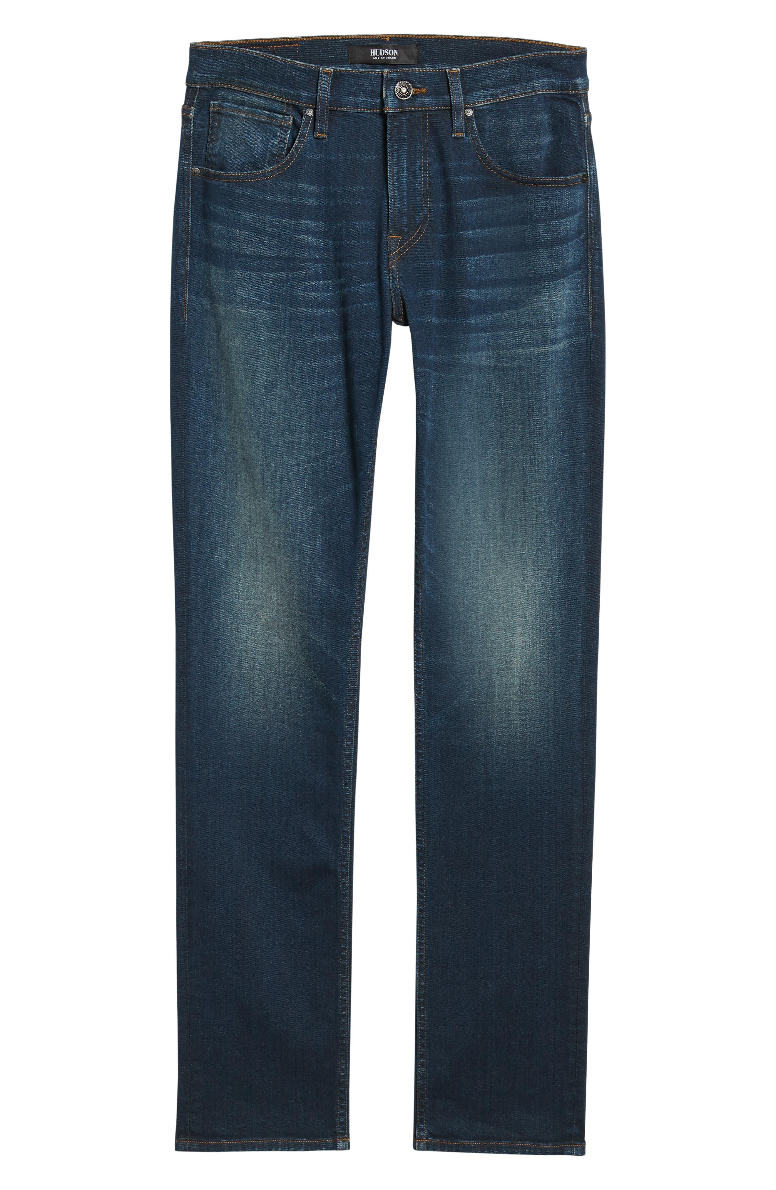 HUDSON JEANS, Blake Slim Fit Straight Leg Jeans, Alternate thumbnail 6, color, NORWOOD