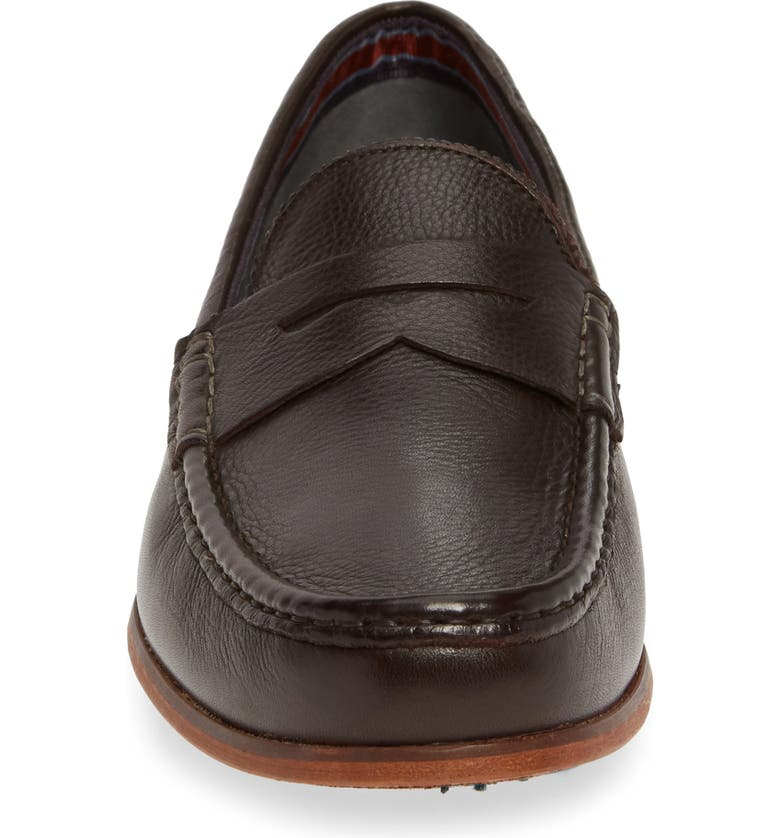 Ted Baker Men's Shornal Leather Penny Loafers In Brown Leather