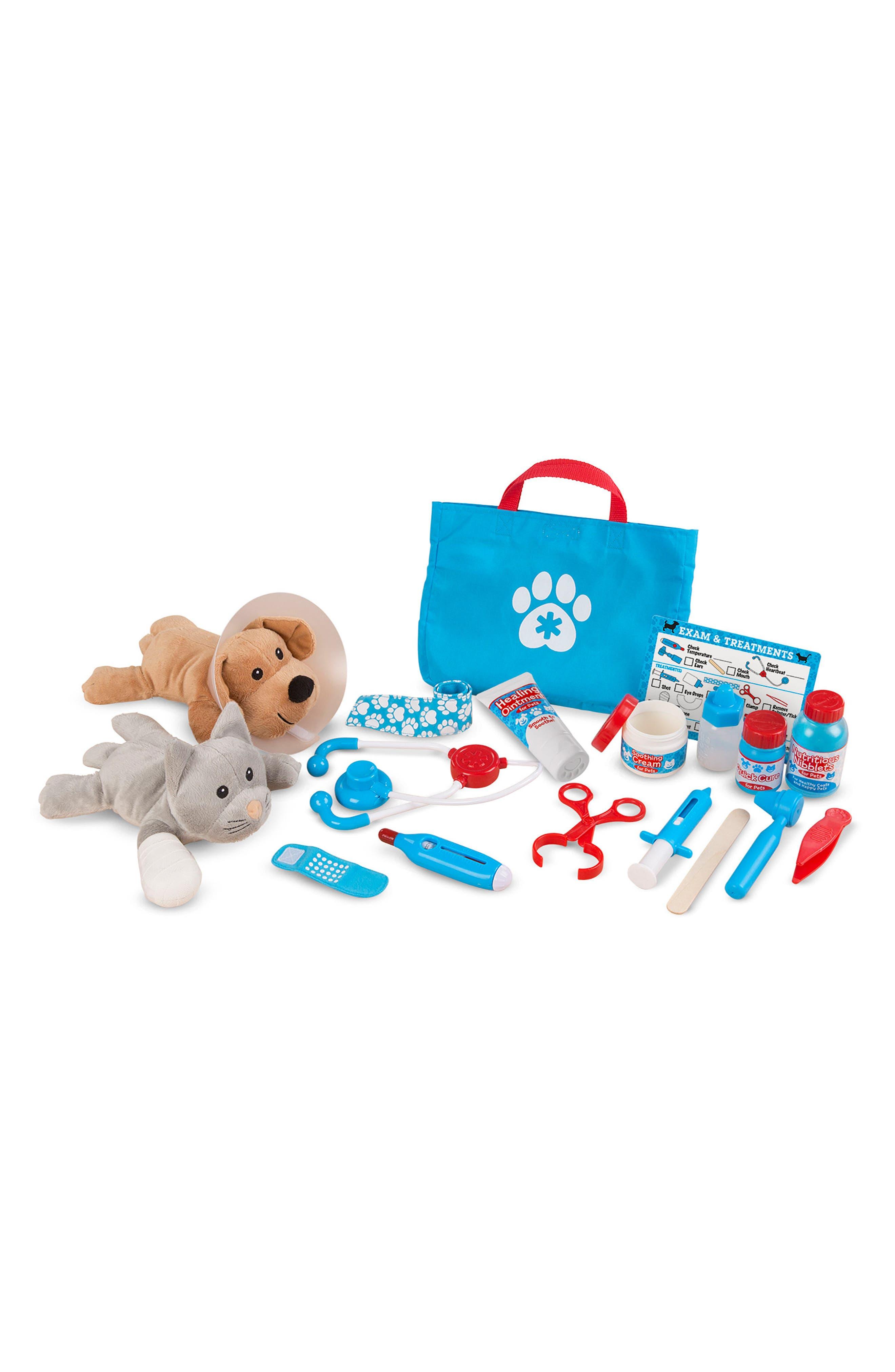 MELISSA & DOUG, 24-Piece Pet Vet Play Set, Alternate thumbnail 3, color, BLUE