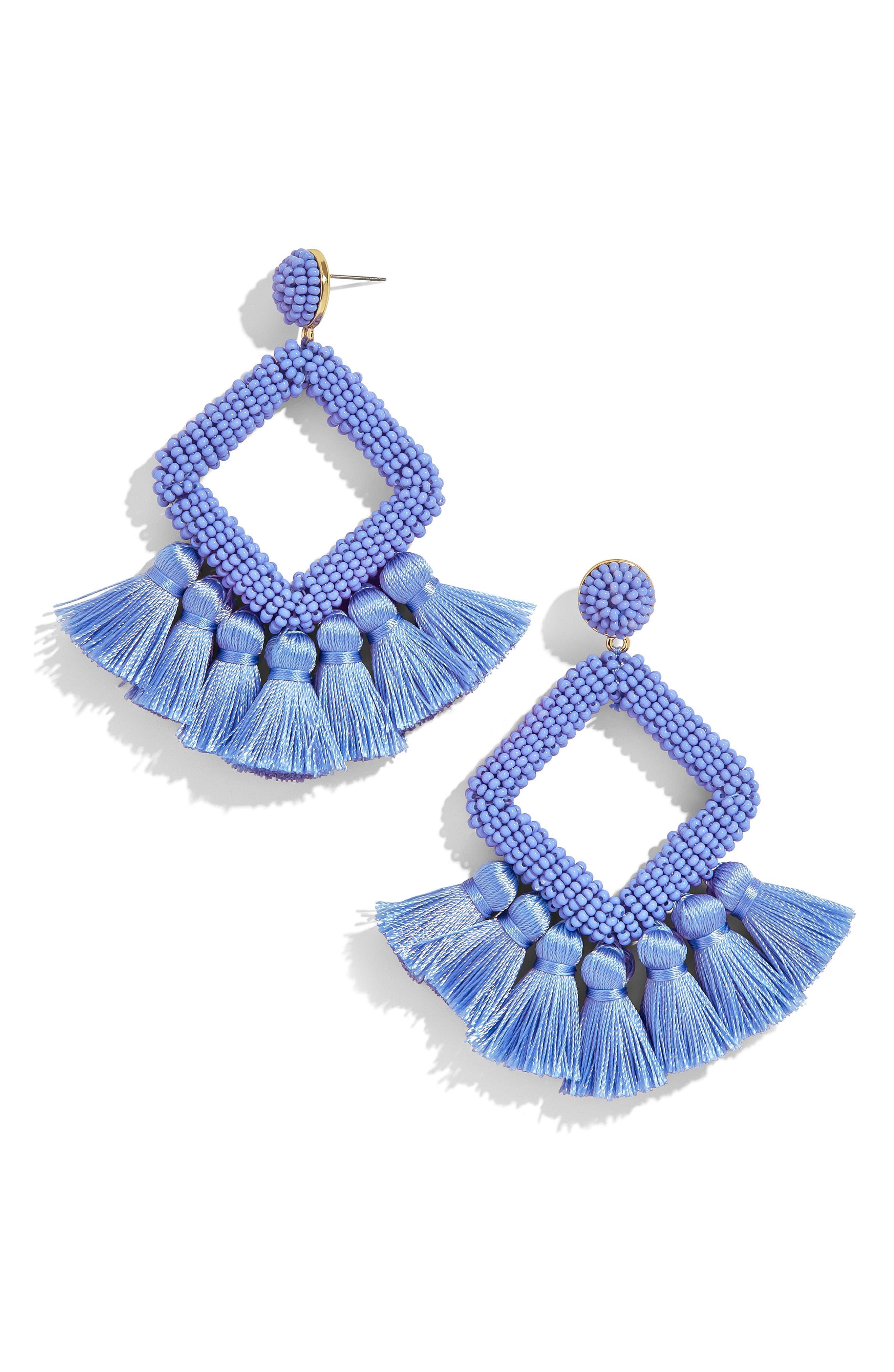 BAUBLEBAR, Laniyah Tassel Statement Earrings, Main thumbnail 1, color, 400