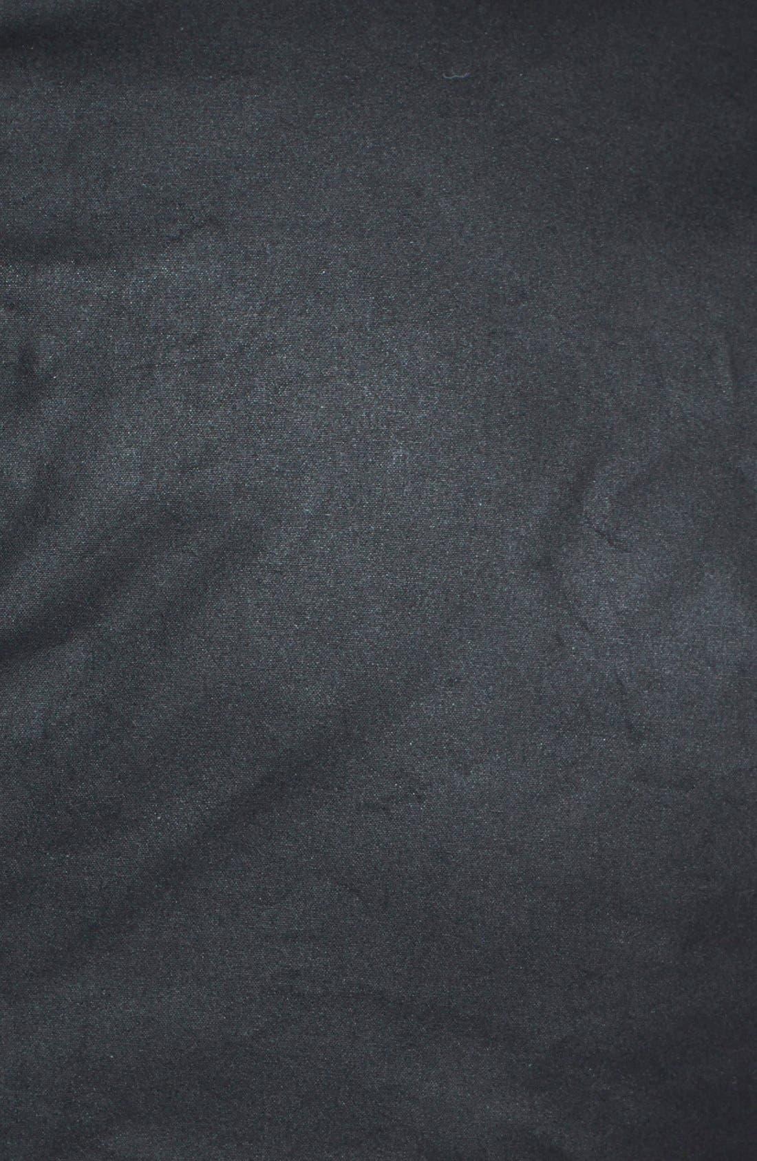 BARBOUR, 'Duke' Regular Fit Waterproof Waxed Cotton Jacket, Alternate thumbnail 4, color, BLACK