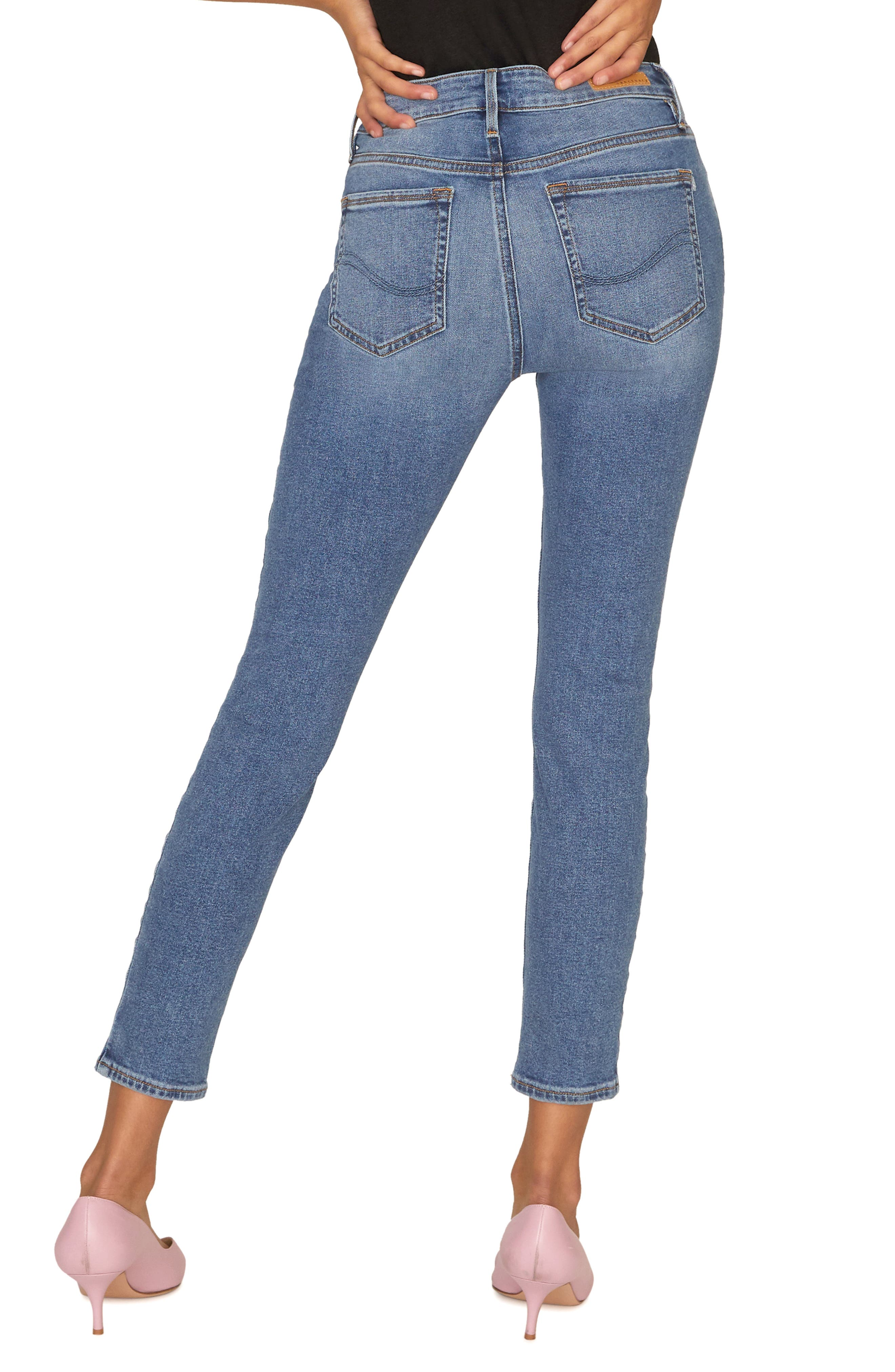 SANCTUARY, Social Standard Ankle Skinny Jeans, Alternate thumbnail 2, color, 422