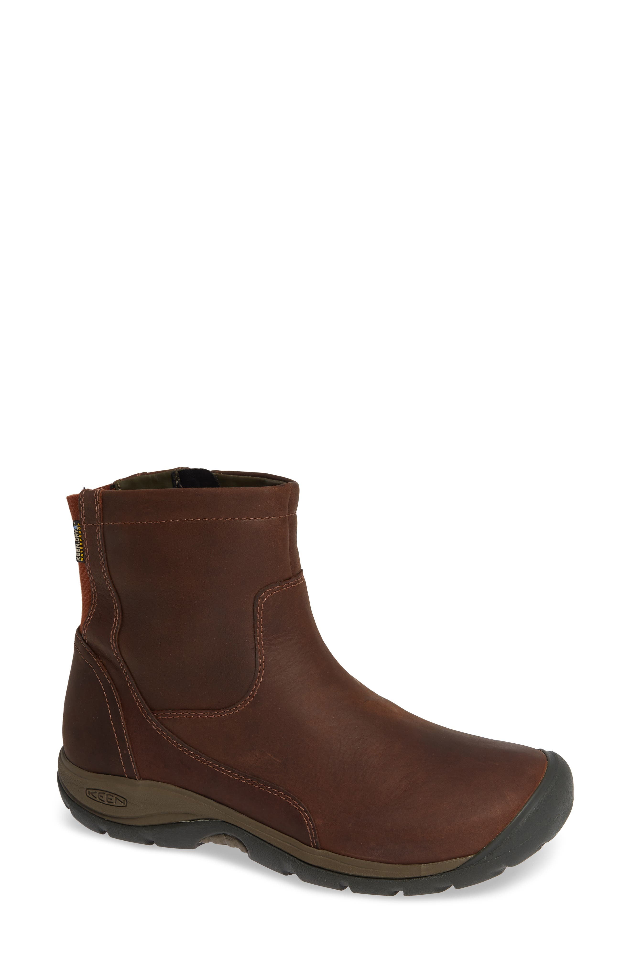 KEEN, Presidio II Waterproof Bootie, Main thumbnail 1, color, TORTOISE SHELL LEATHER