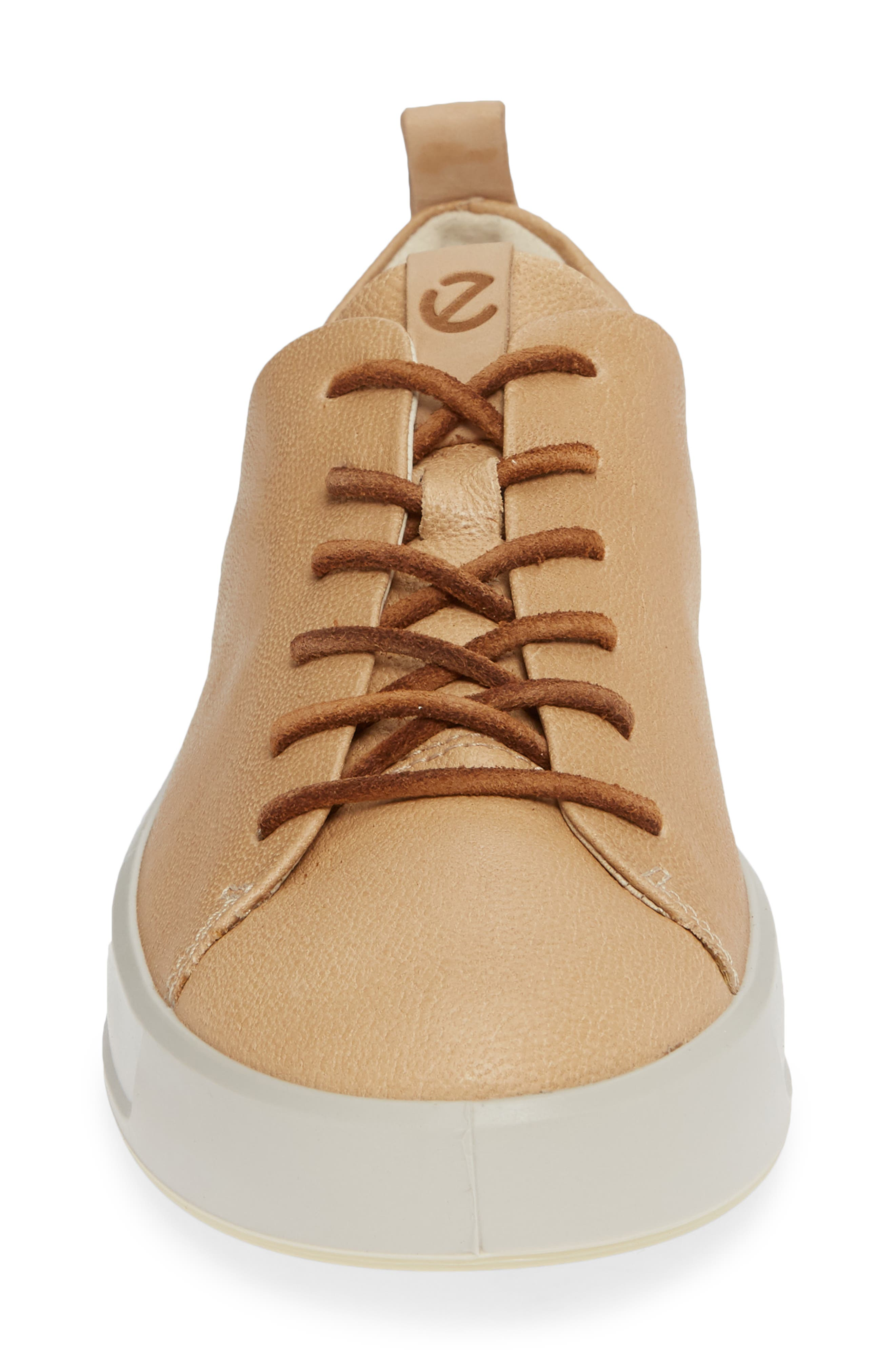 ECCO, Soft 8 Sneaker, Alternate thumbnail 4, color, POWDER LEATHER