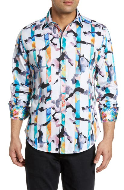 Robert Graham T-shirts CALAZANS CLASSIC FIT PRINT SPORT SHIRT