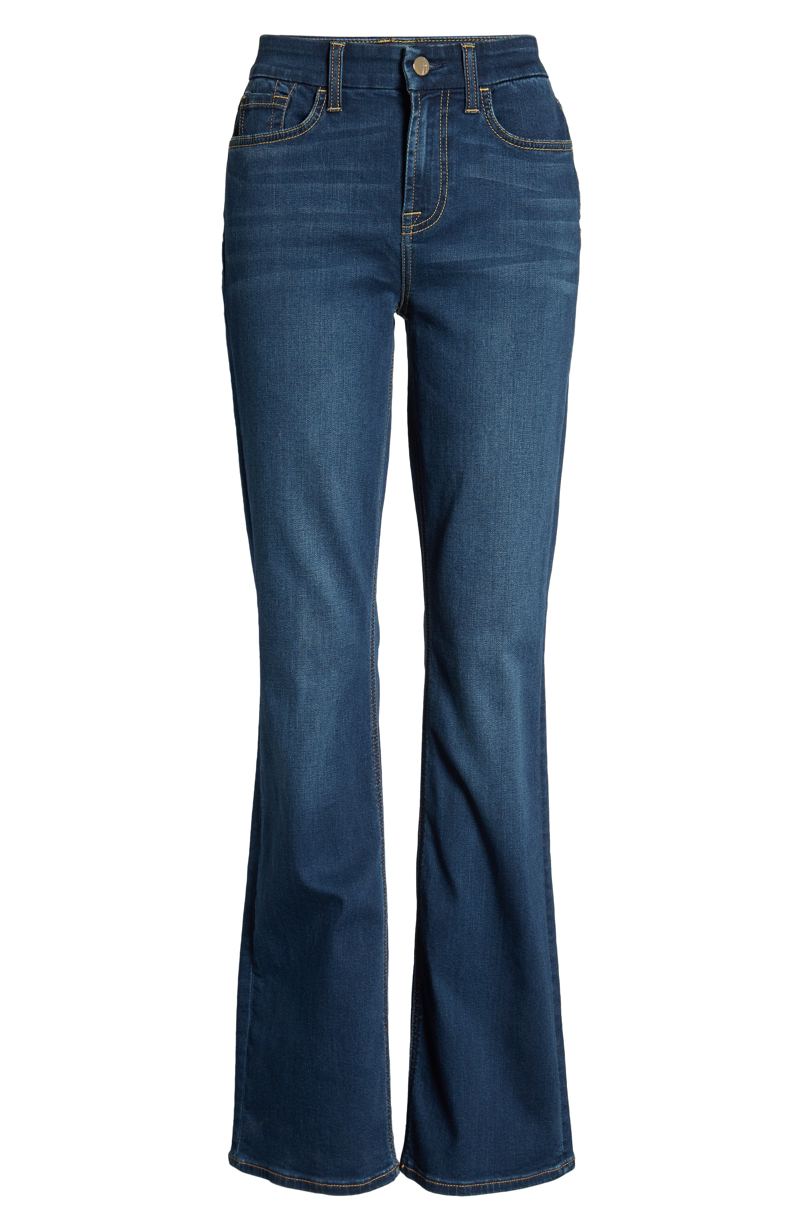 JEN7 BY 7 FOR ALL MANKIND, Slim Bootcut Jeans, Alternate thumbnail 7, color, CLASSIC MEDIUM BLUE