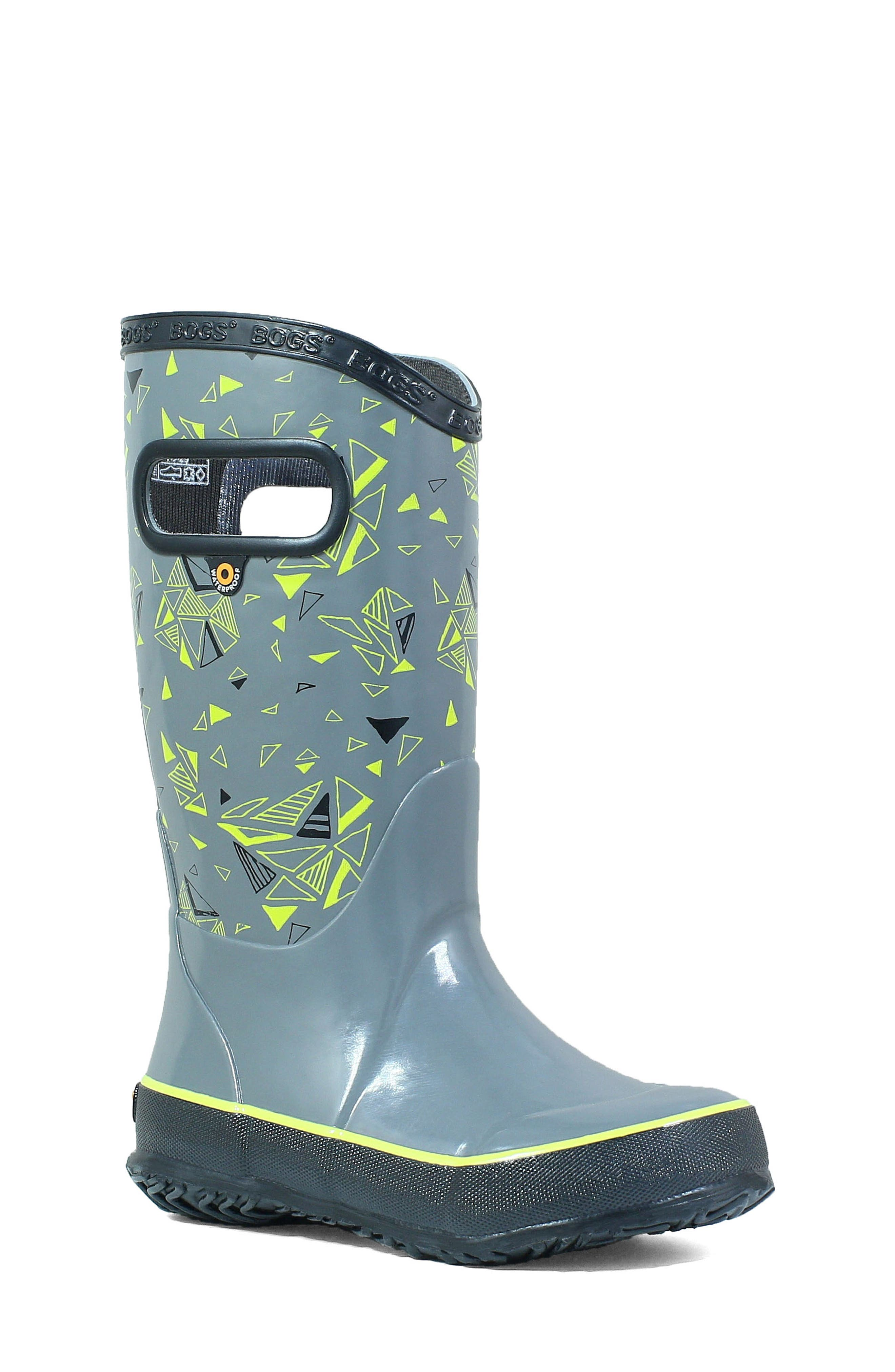 BOGS, Triego Waterproof Rain Boot, Main thumbnail 1, color, GRAY MULTI