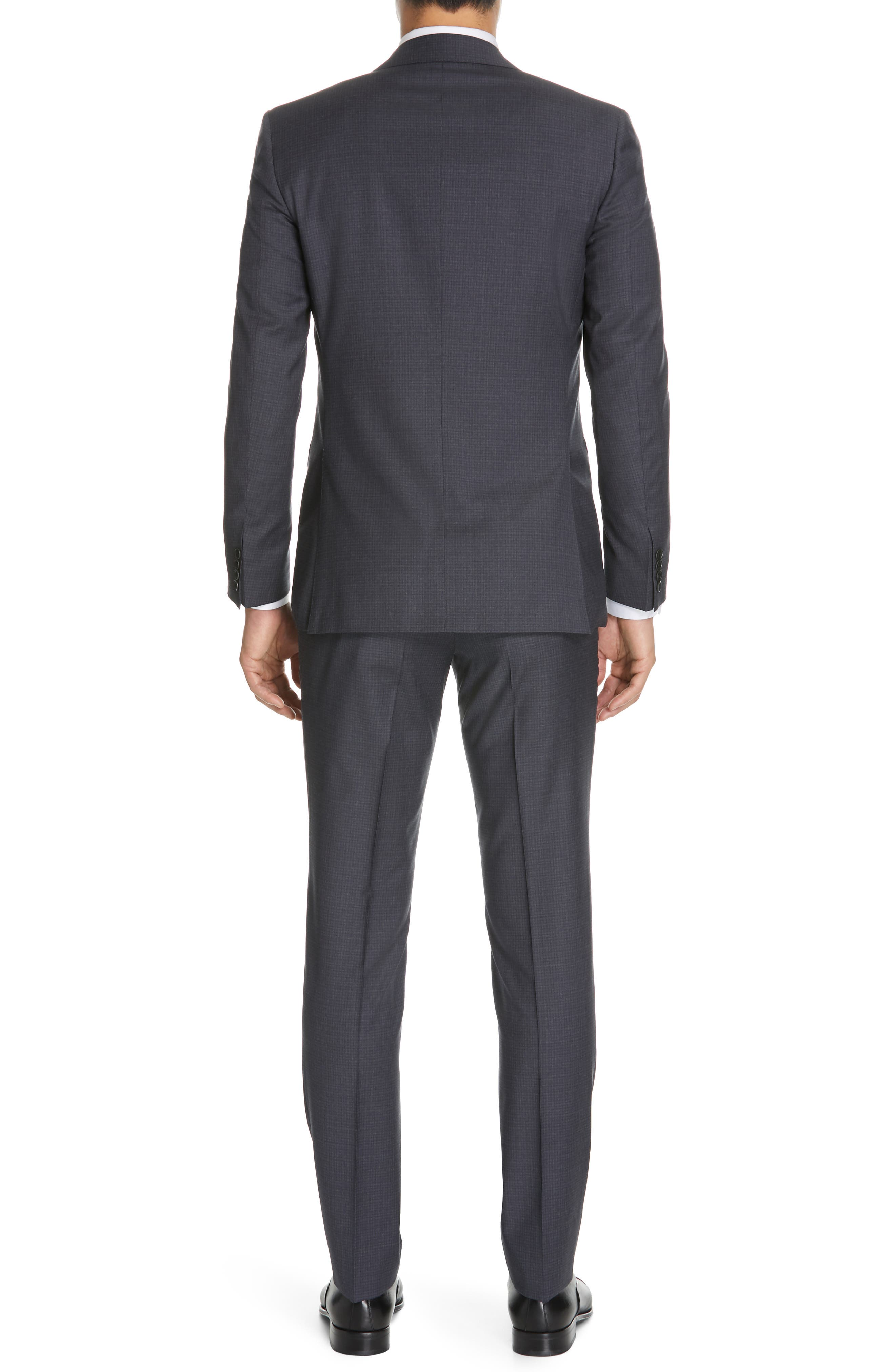 CANALI, Milano Classic Fit Check Wool Suit, Alternate thumbnail 2, color, CHARCOAL