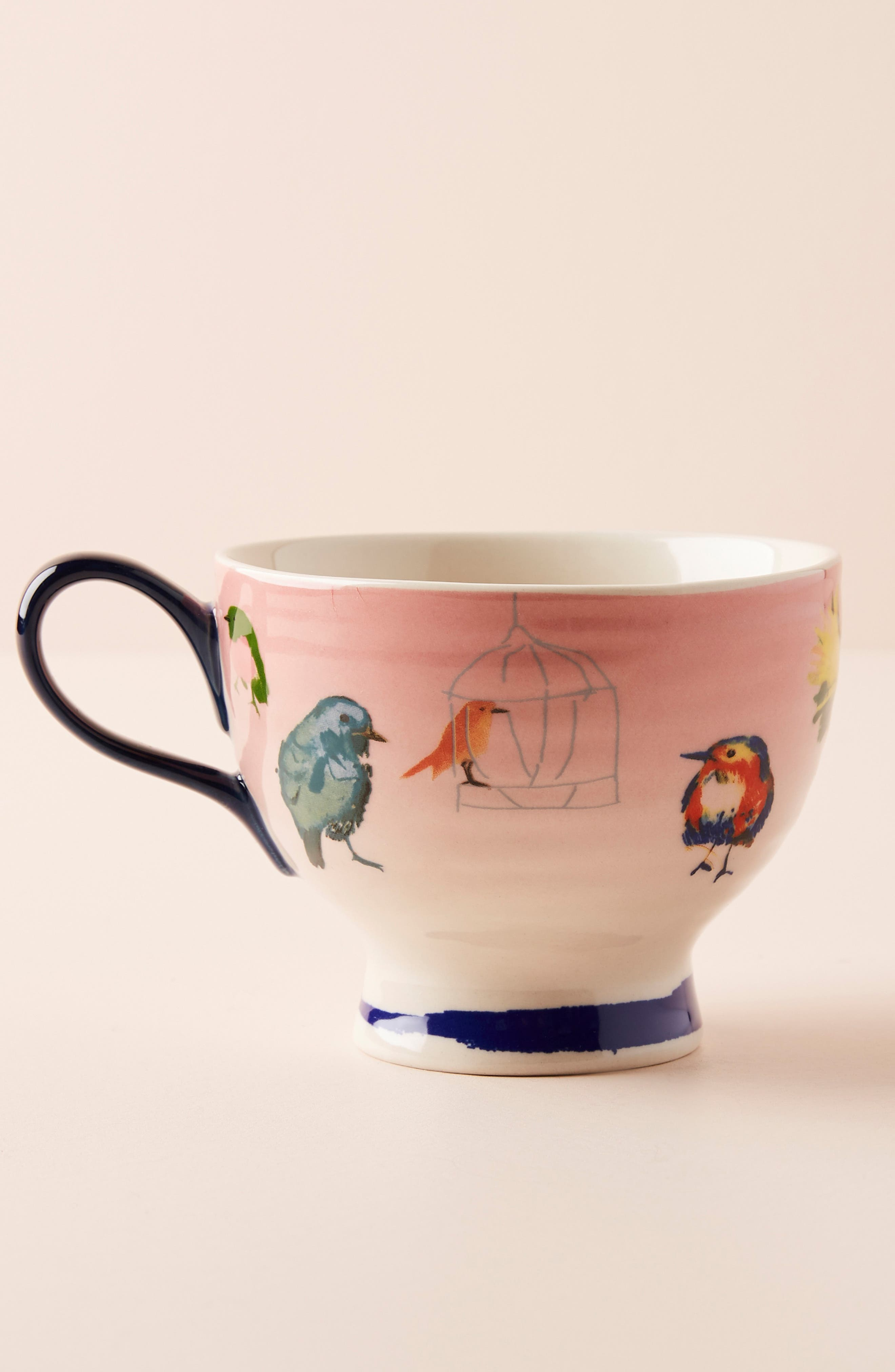 ANTHROPOLOGIE, Raven Roxanne Cup, Alternate thumbnail 4, color, NAVY