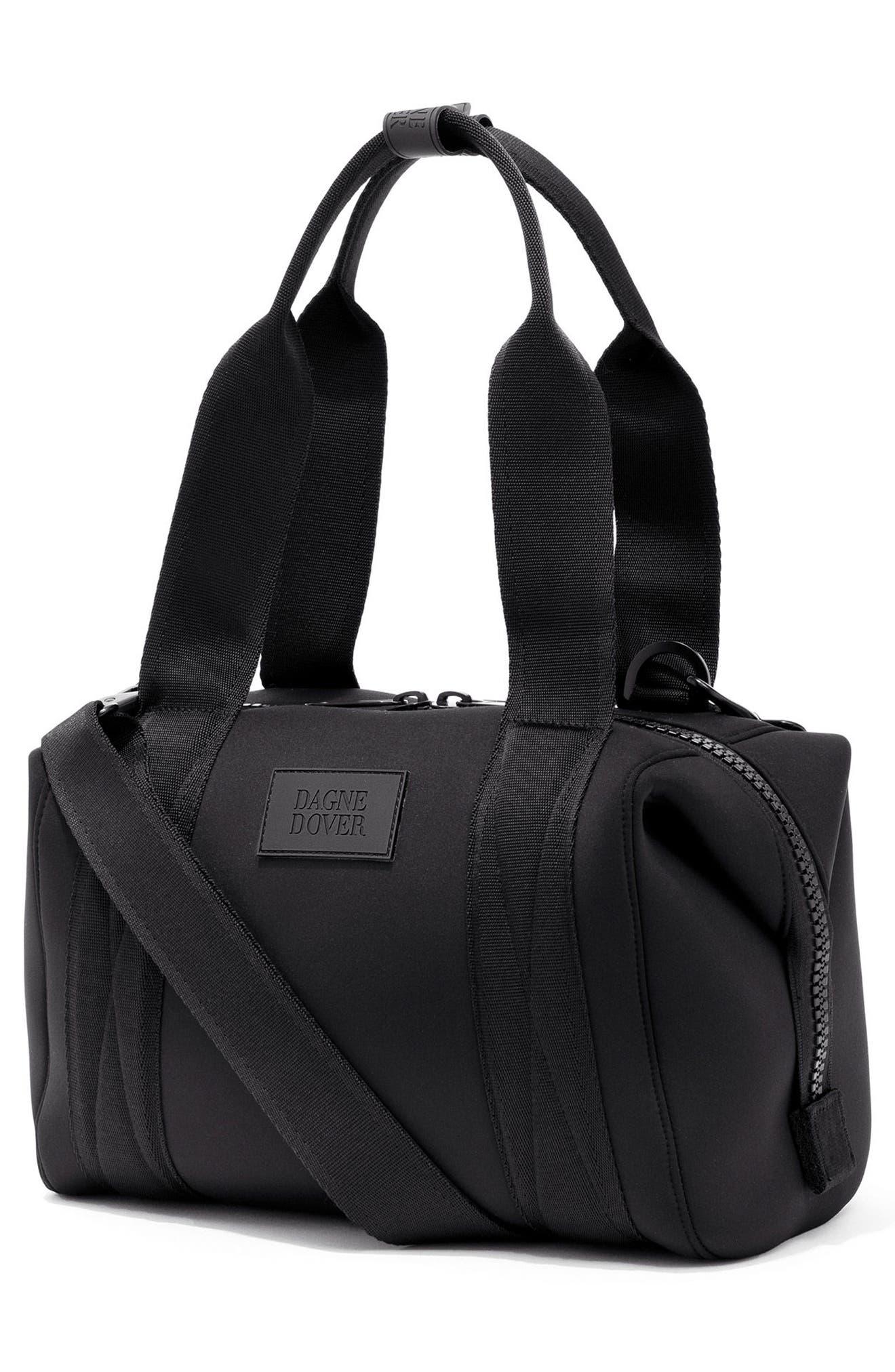 DAGNE DOVER, 365 Small Landon Carryall Duffle Bag, Alternate thumbnail 4, color, ONYX