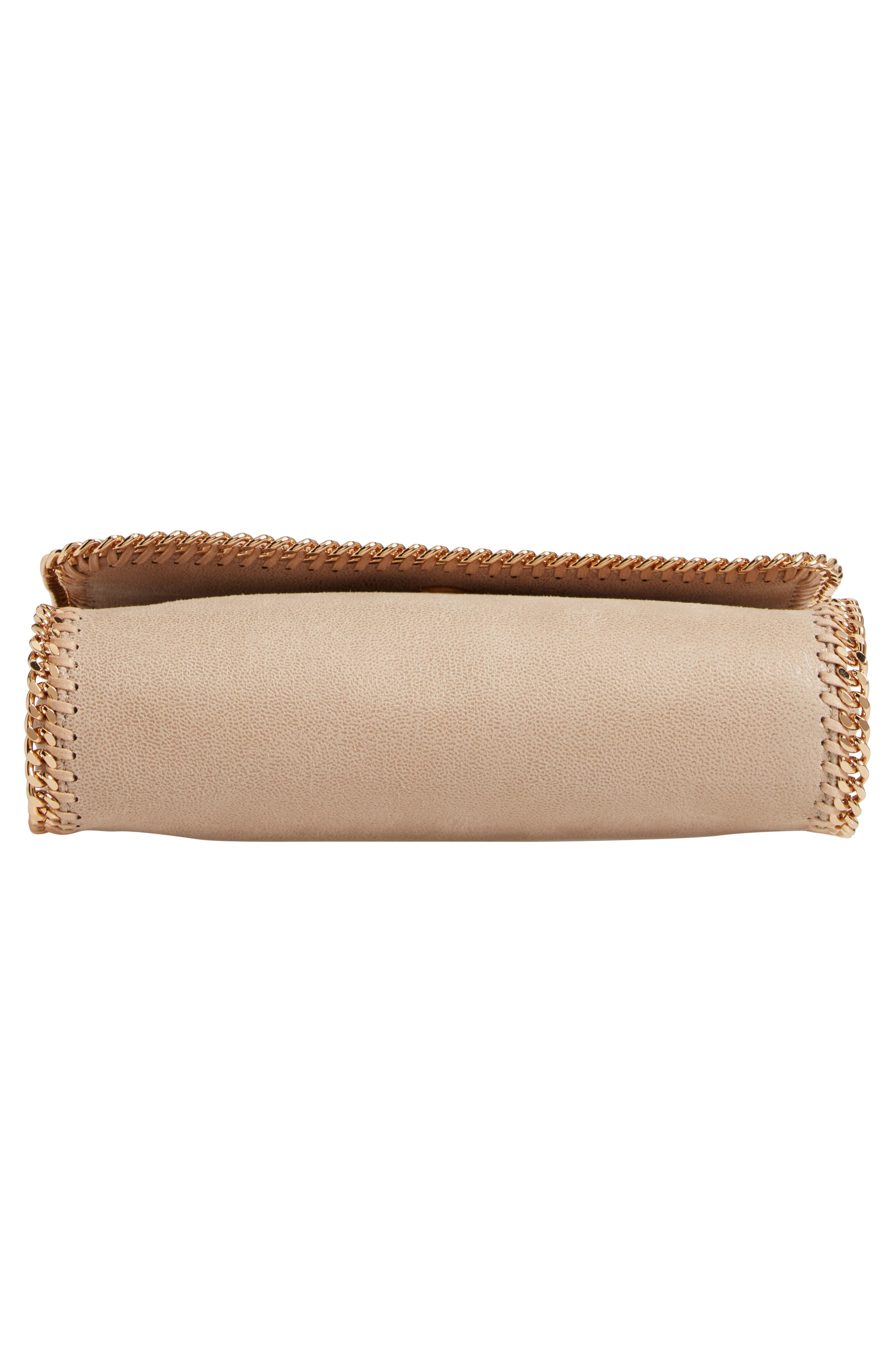 STELLA MCCARTNEY, Falabella Shaggy Deer Faux Leather Shoulder Bag, Alternate thumbnail 7, color, CLOTTED CREAM