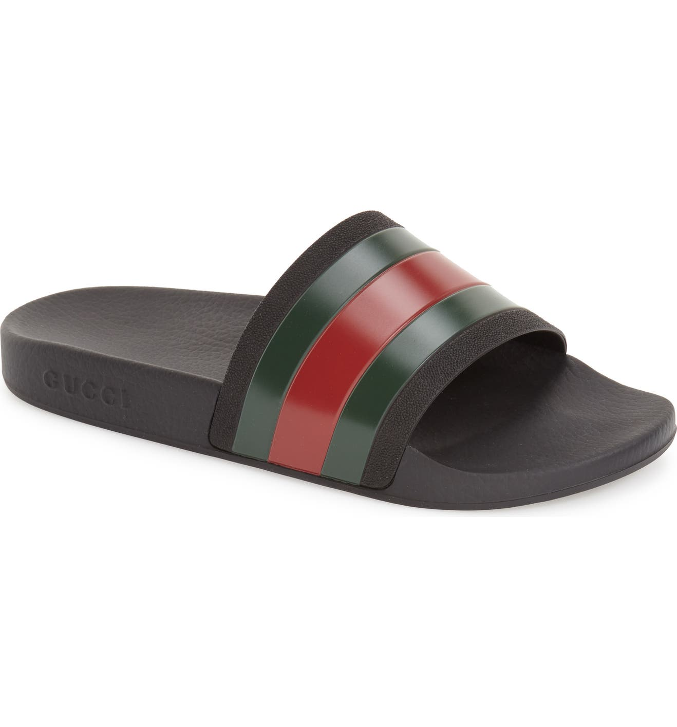 85a976642 Gucci Pursuit Rubber Slide Sandal (Men)