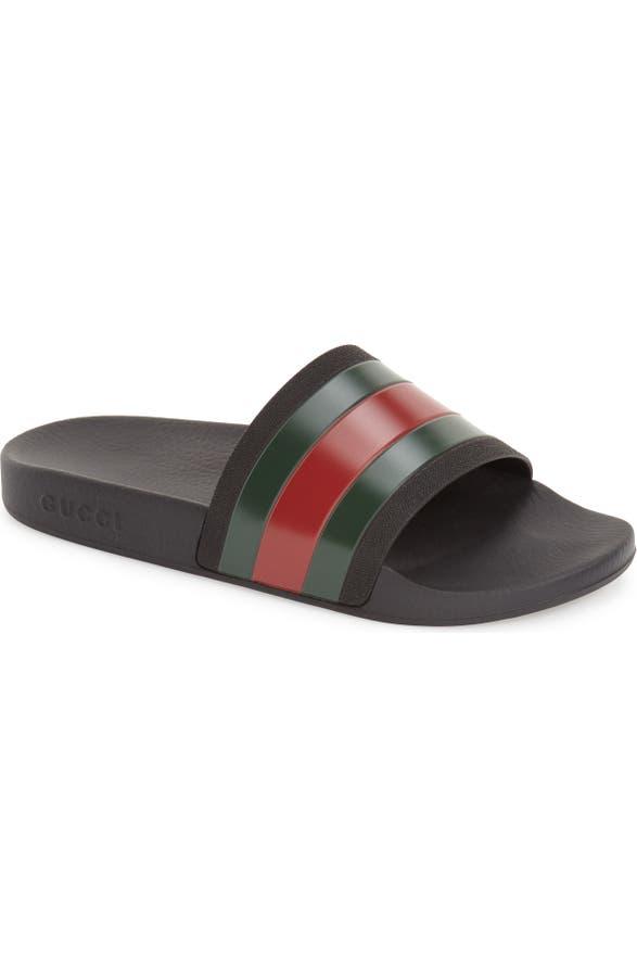 b85b71572 Gucci Pursuit Rubber Slide Sandal (Men)