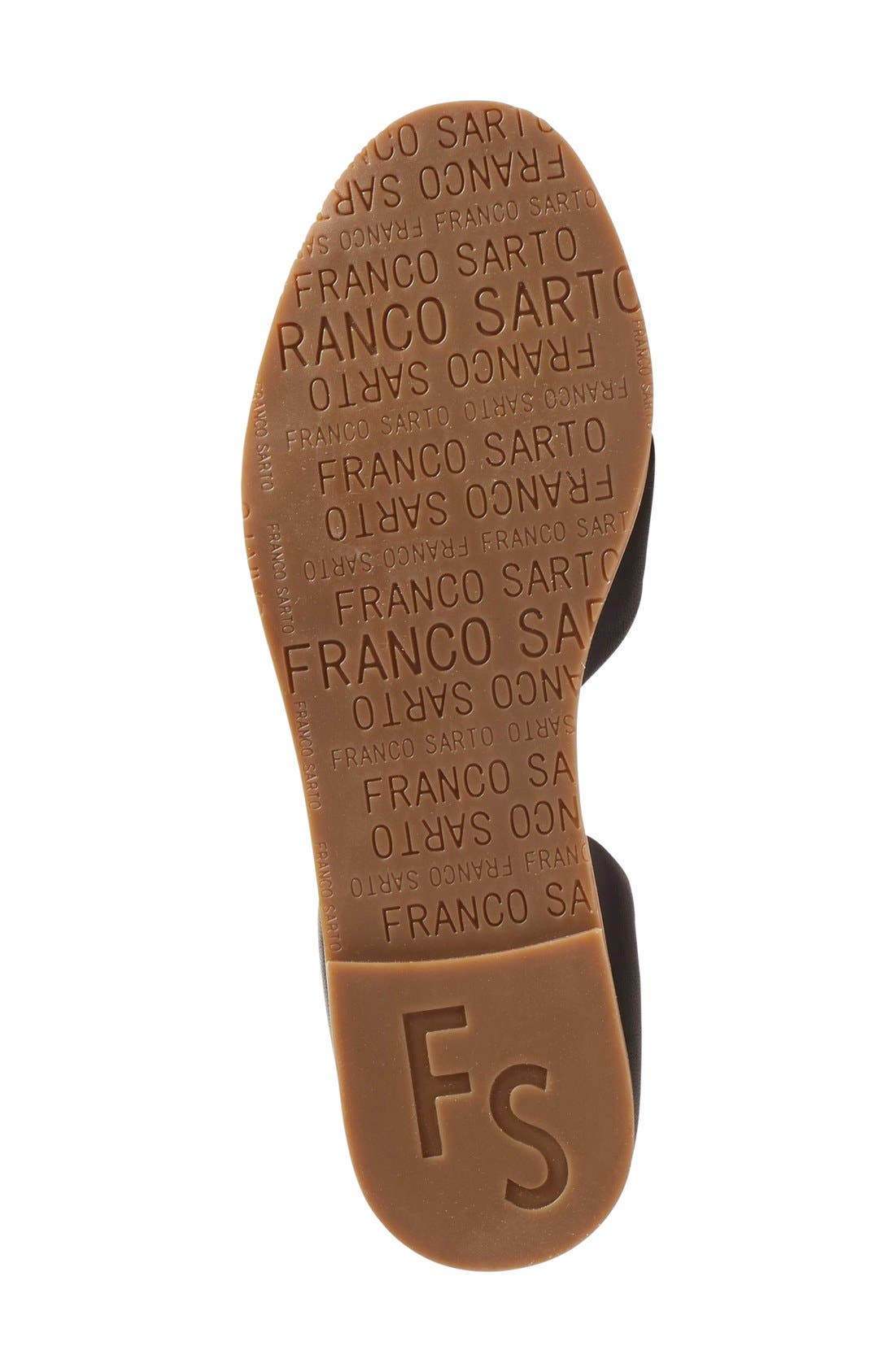 SARTO BY FRANCO SARTO, 'Vala' Flat Sandal, Alternate thumbnail 4, color, 001